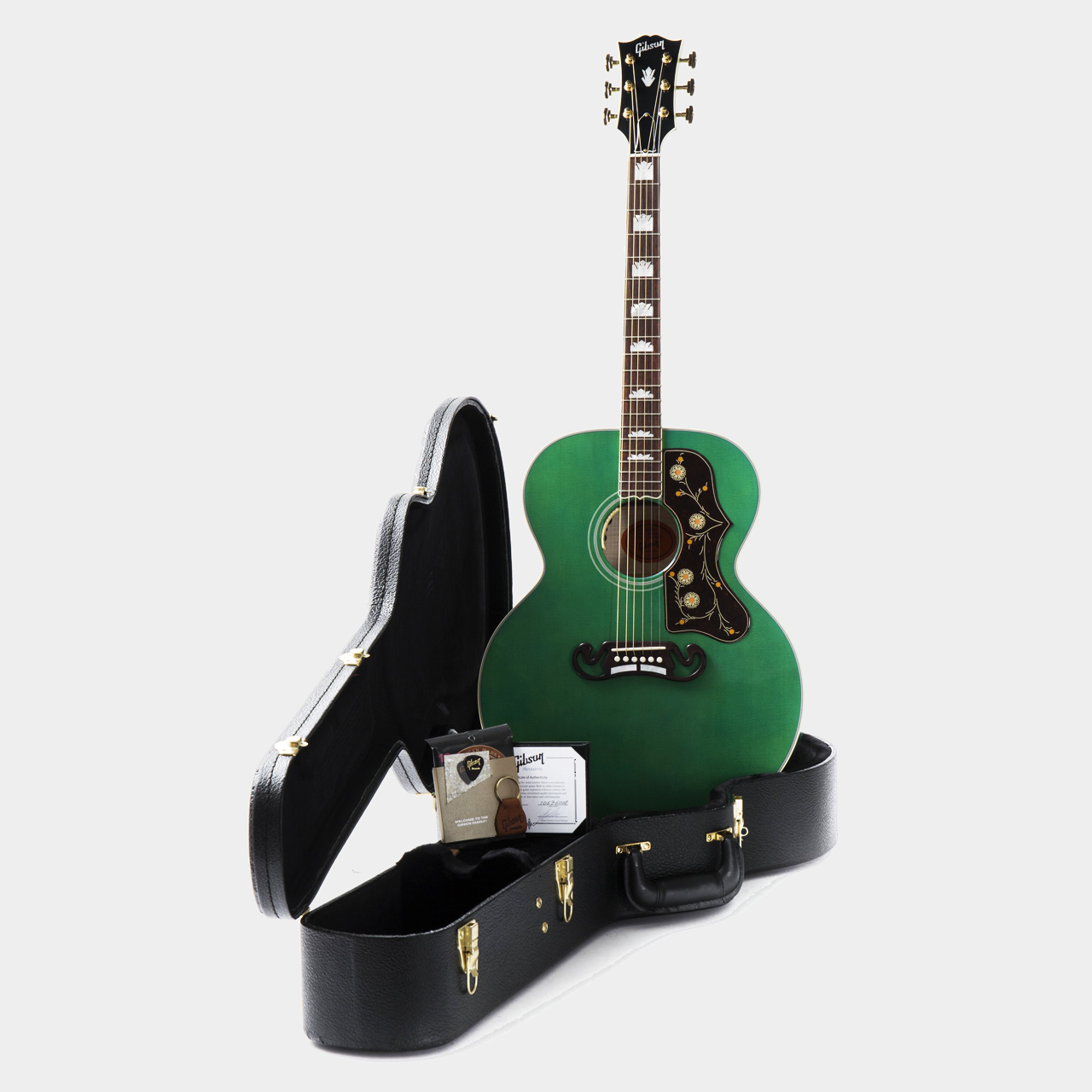 Gibson SJ-200 Sea Green Limited Case