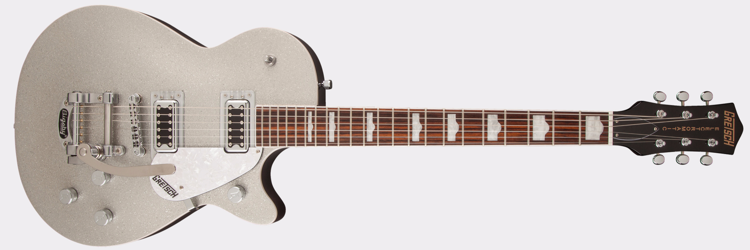 GRETSCH G5439T Electromatic Pro Jet Bigsby Silver Sparkle