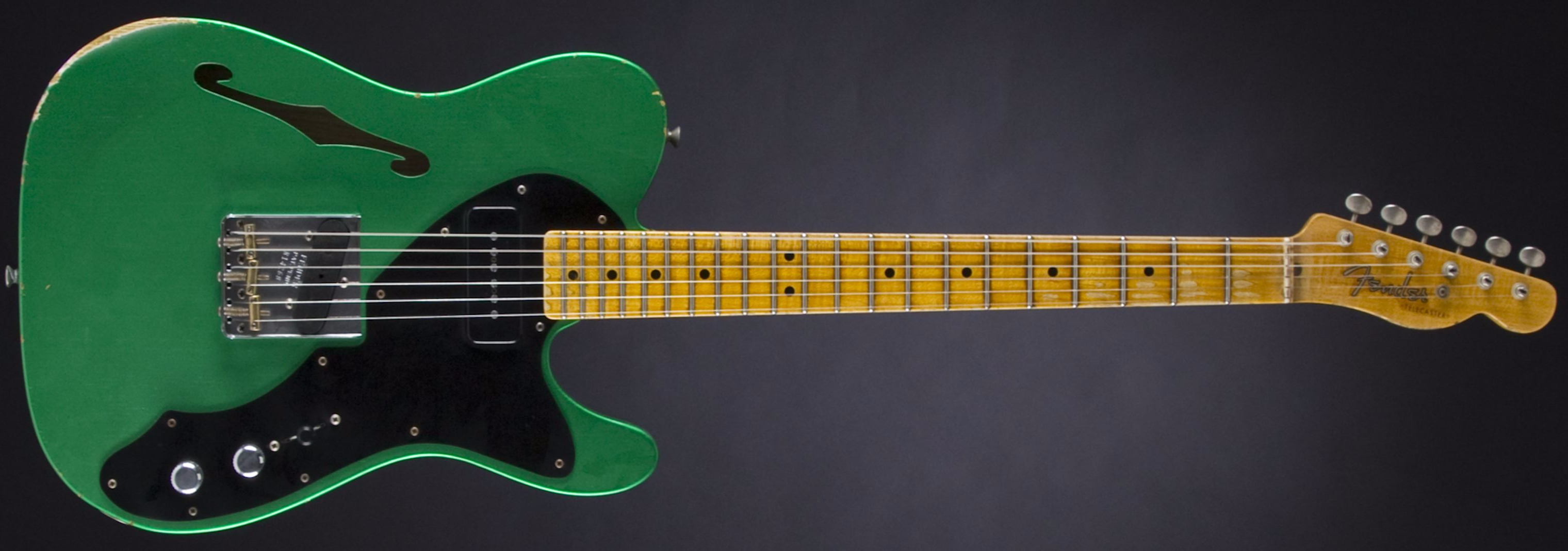 FENDER Custom Shop '50s Thinline Telecaster Lime Green