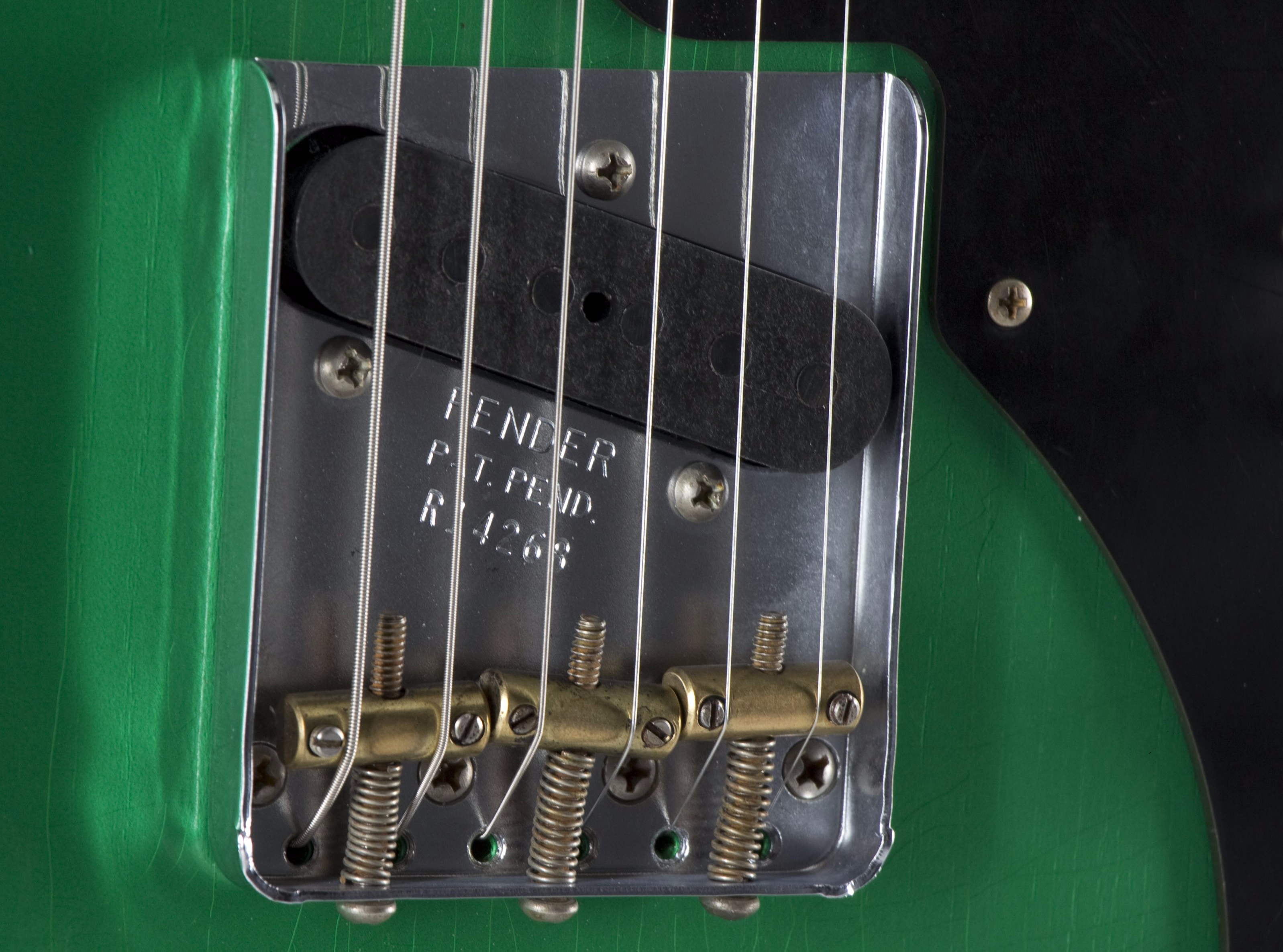 FENDER Custom Shop '50s Thinline Telecaster Lime Green Bridge