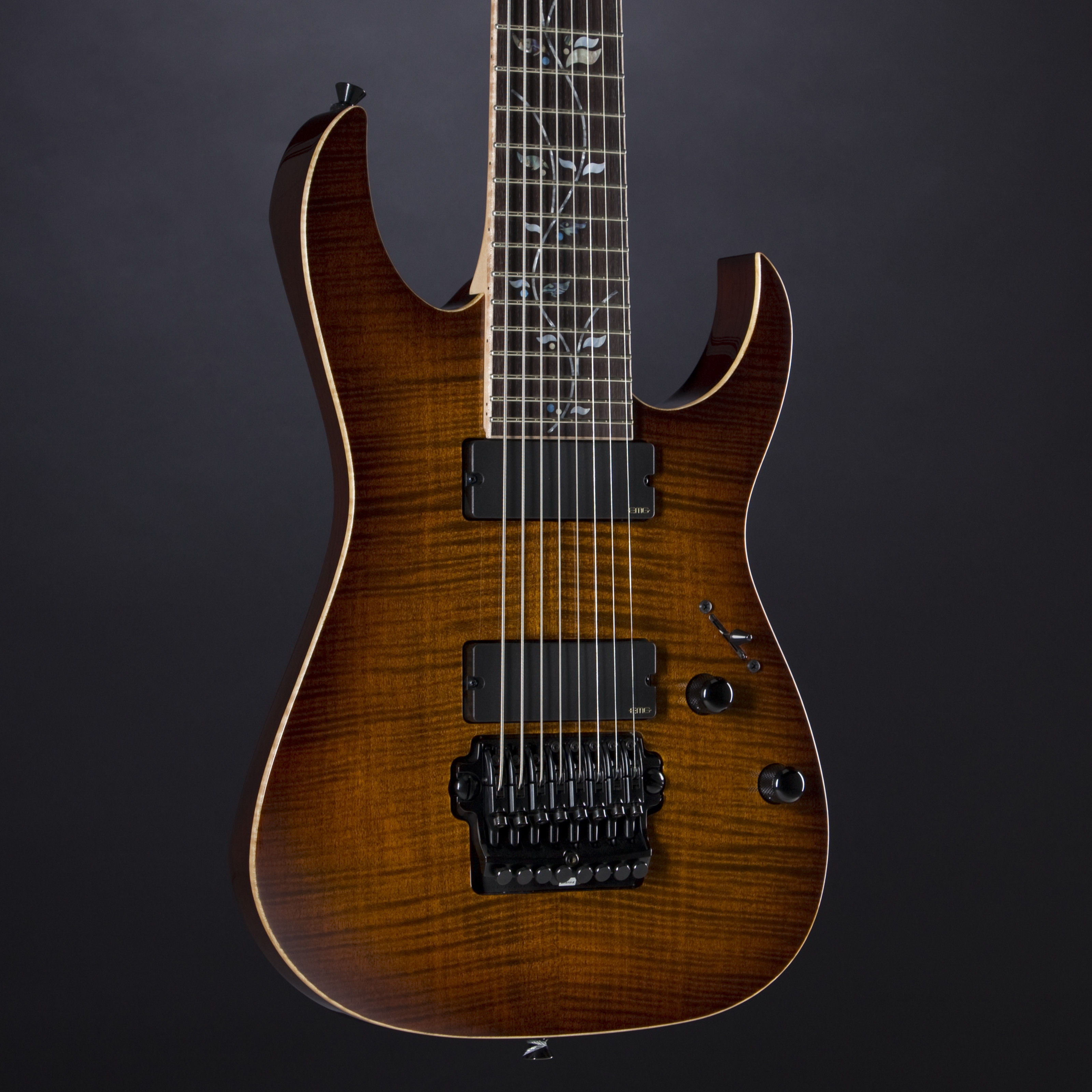 IBANEZ J. Custom JCRG20138-BGA 8-String Brown Garnet Shadow
