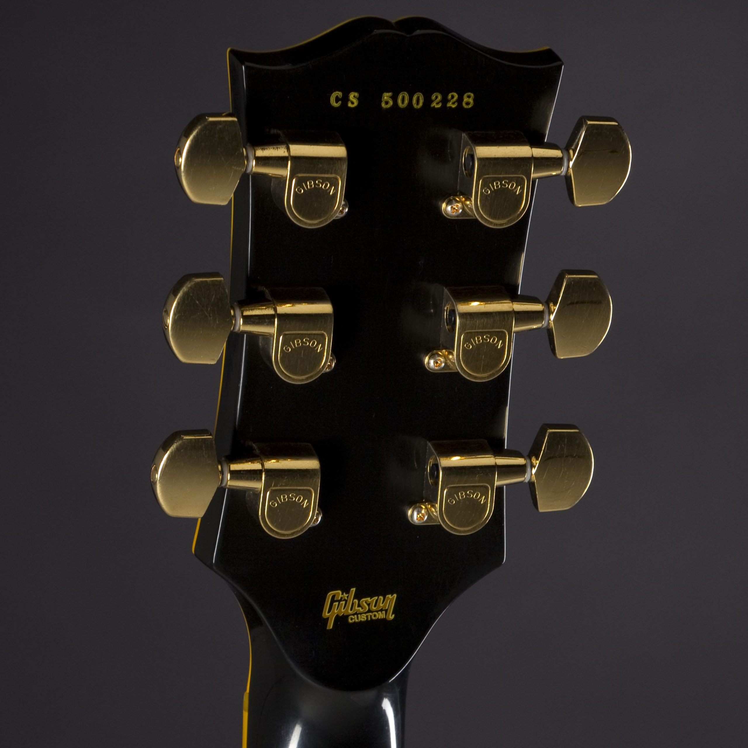 GIBSON 1974 Les Paul Custom Reissue Ebony #CS500228 Kopfplatte