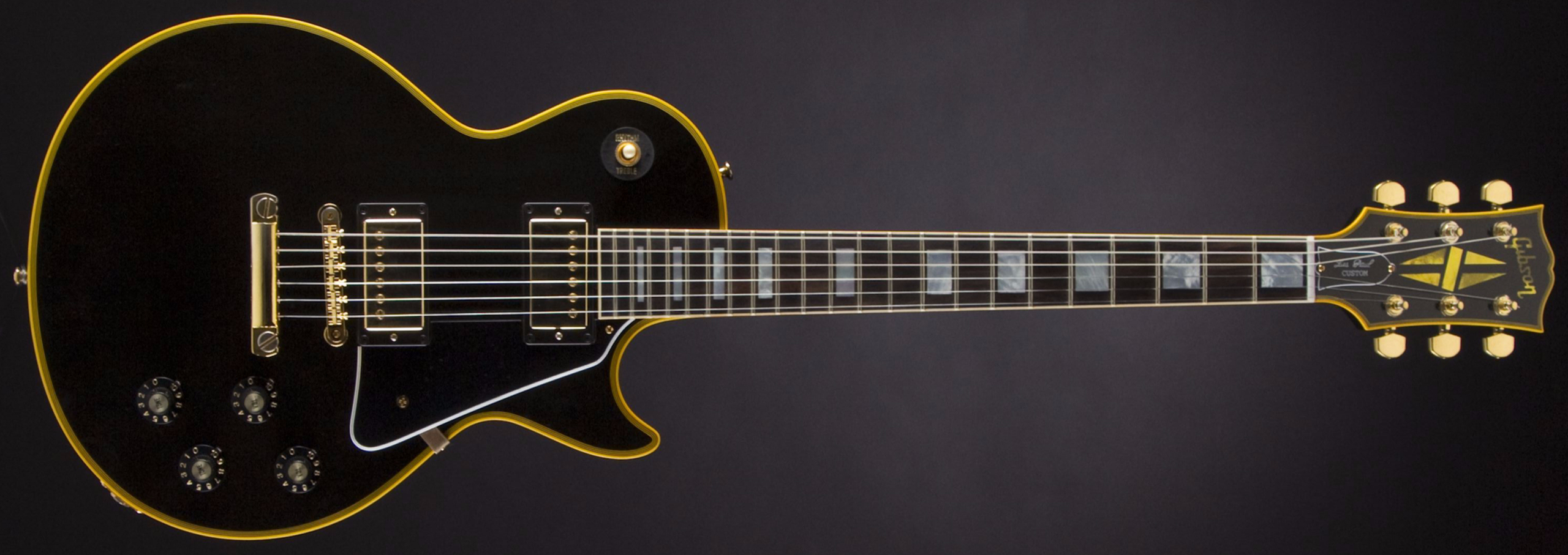 GIBSON 1974 Les Paul Custom Reissue Ebony #CS500228