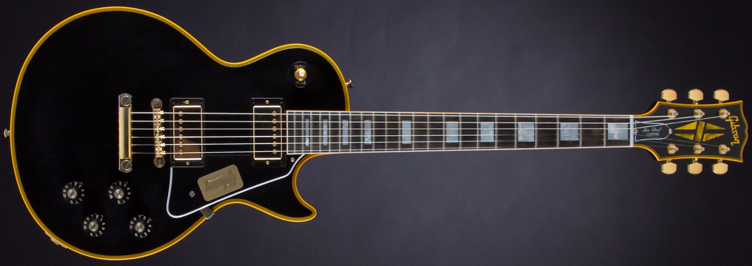 GIBSON 1974 Les Paul Custom Reissue Ebony #CS501311