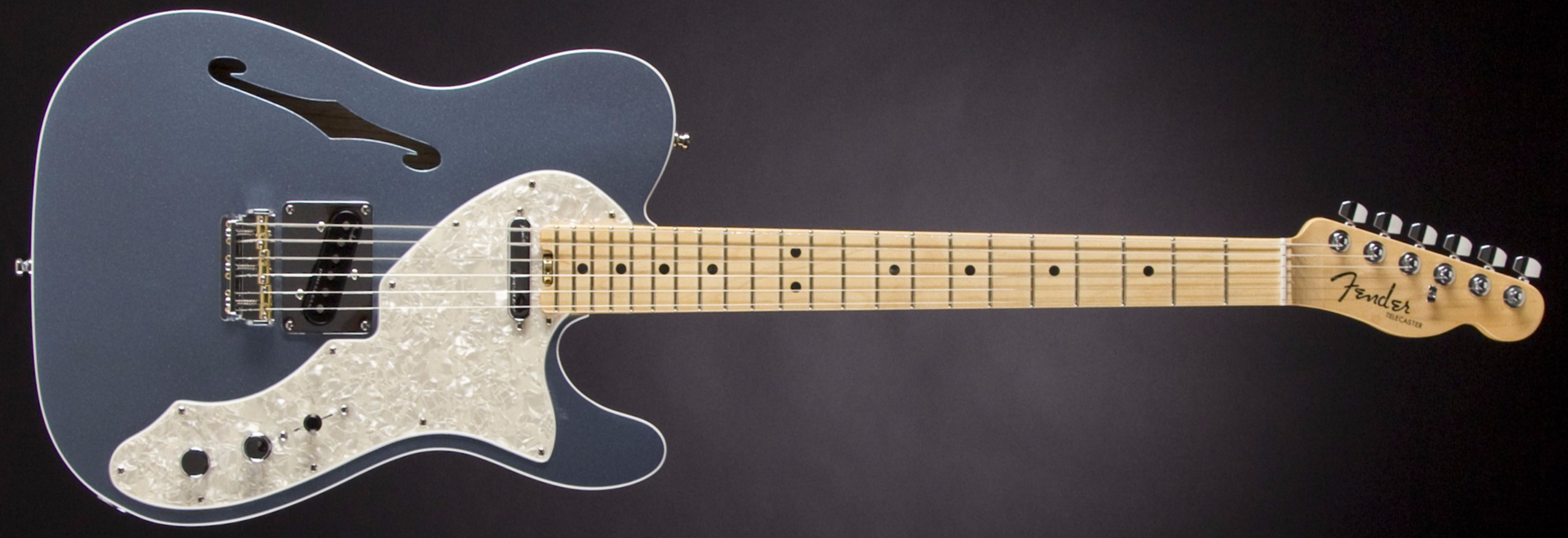 FENDER American Elite Telecaster Thinline MN Mystic Icy Blue