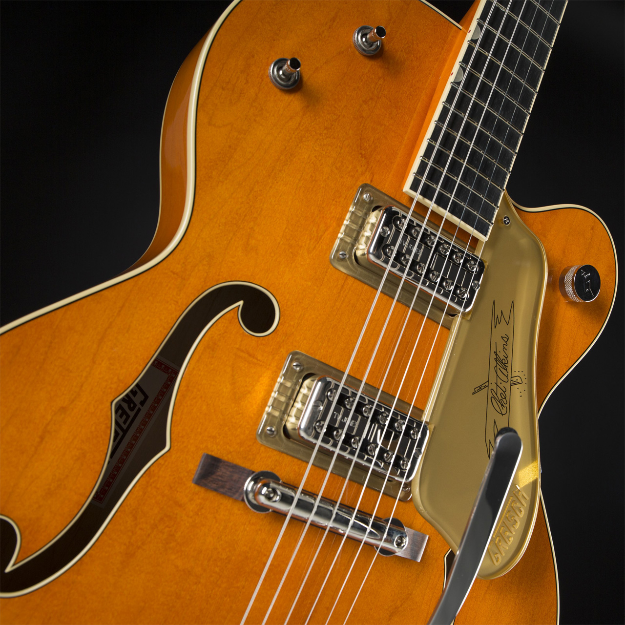 GRETSCH G6120T-59 Vintage Select Edition Chet Atkins Hollow Body Bigsby Vintage Orange Stain Lacquer Pickups