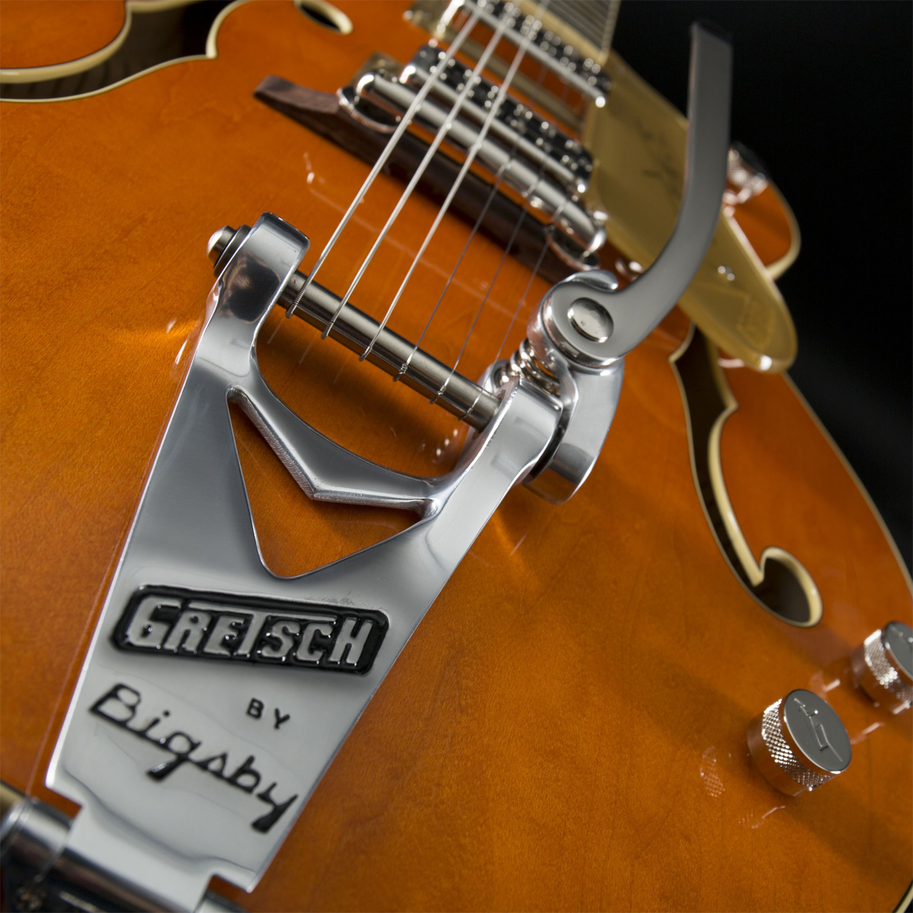 GRETSCH G6120T-59 Vintage Select Edition Chet Atkins Hollow Body Bigsby Vintage Orange Stain Lacquer Vibrato