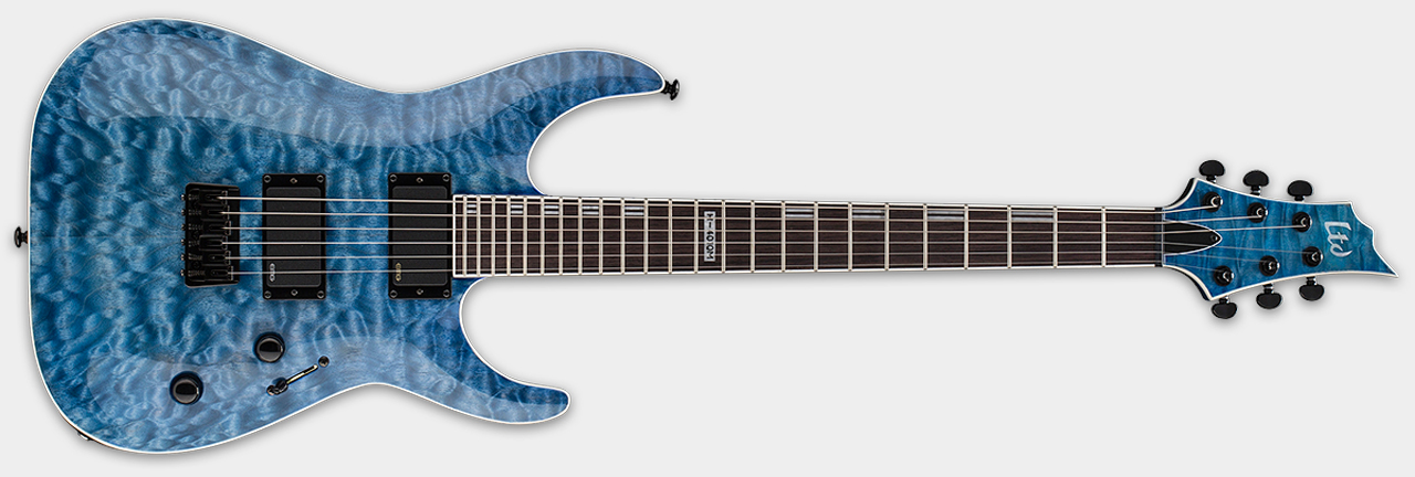 ESP LTD H401QM Faded Sky Blue