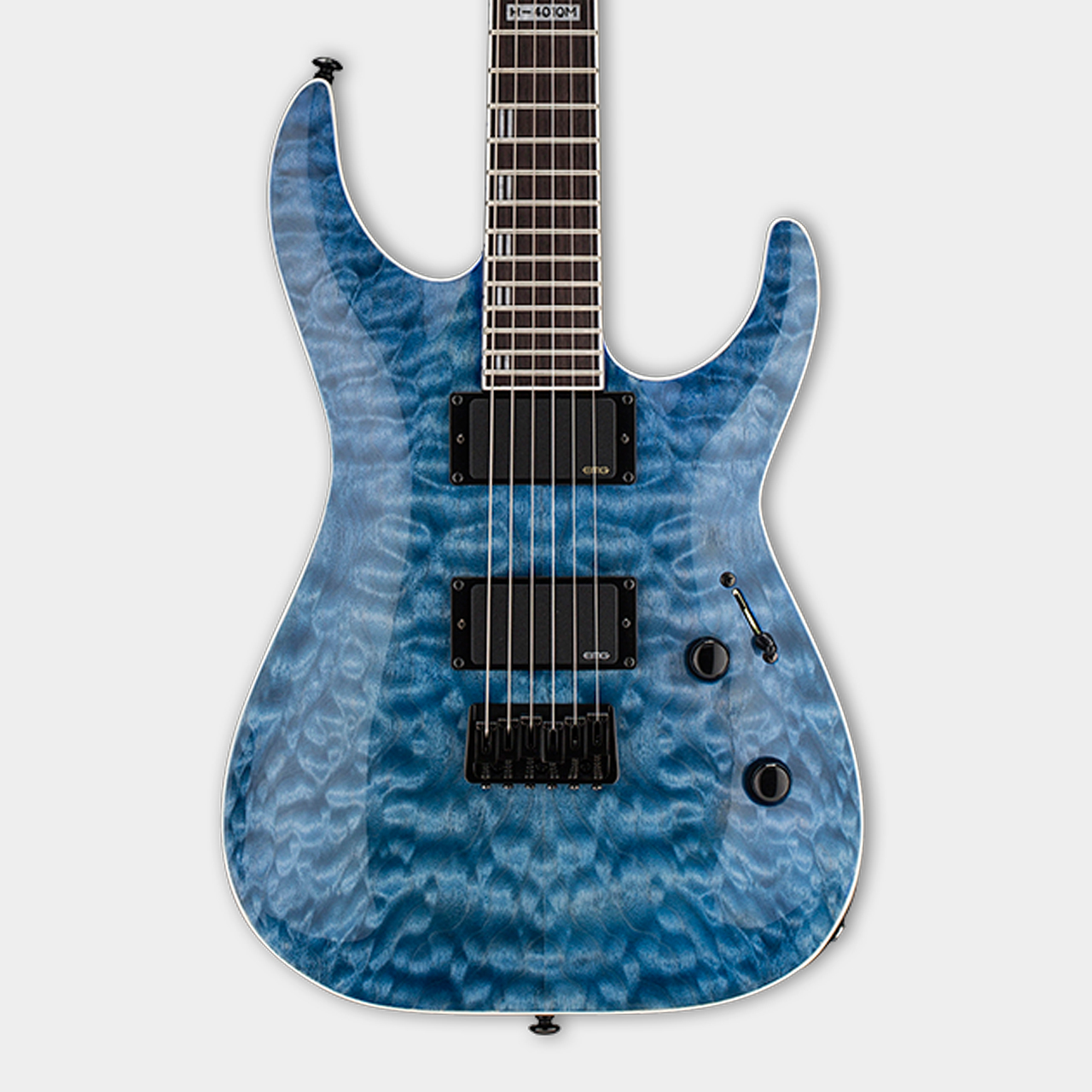 ESP LTD H401QM Faded Sky Blue Body