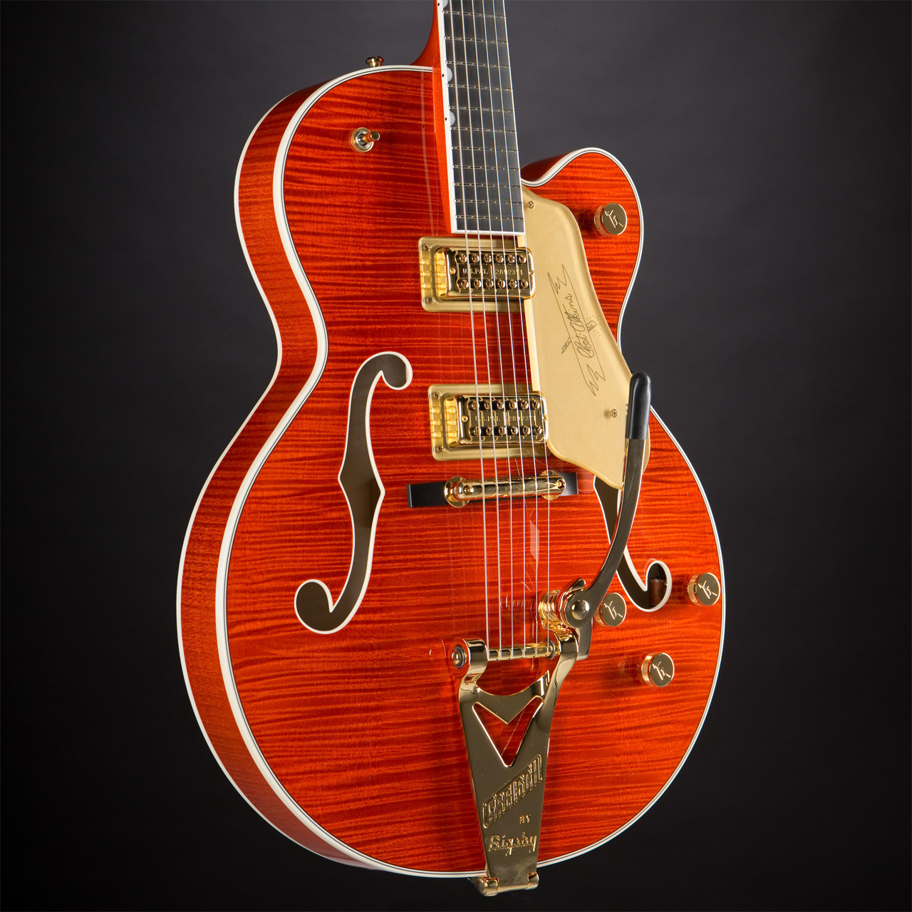 GRETSCH G6120TFM Players Edition Nashville Bigsby Flame Maple Orange Stain Korpus