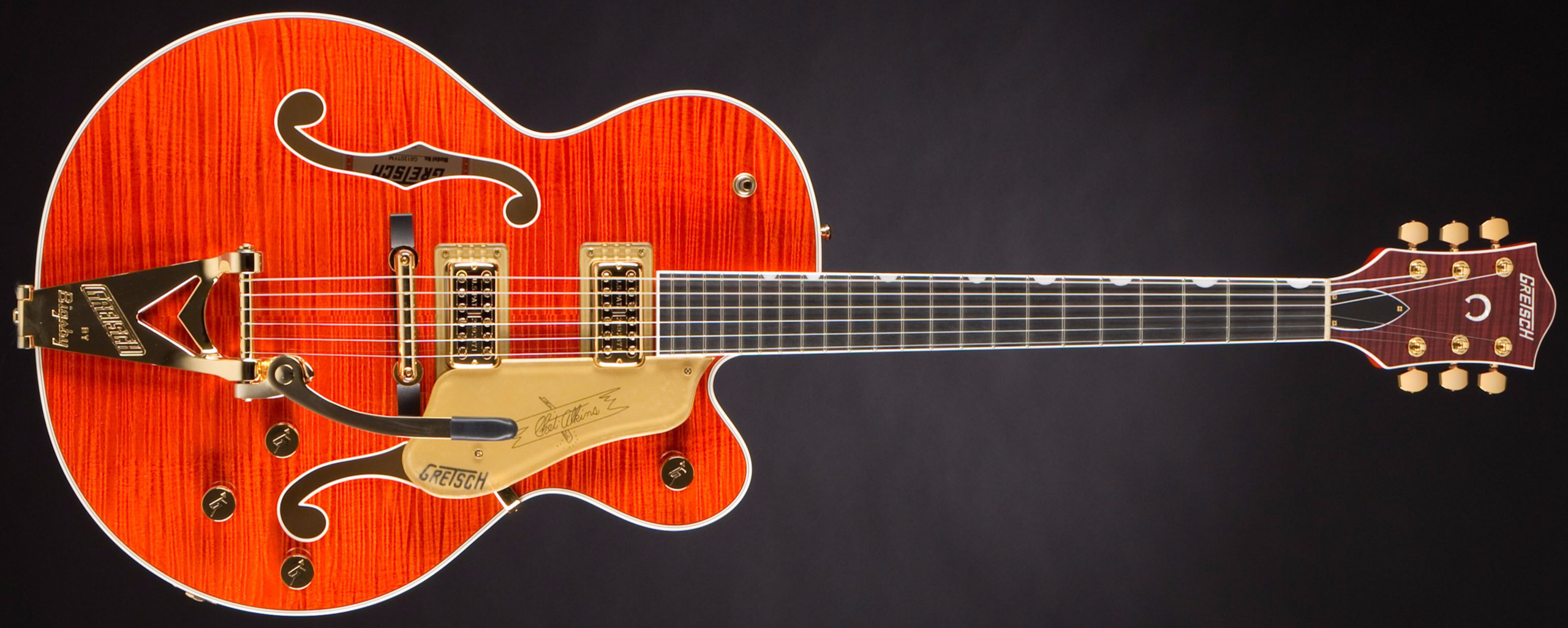 GRETSCH G6120TFM Players Edition Nashville Bigsby Flame Maple Orange Stain