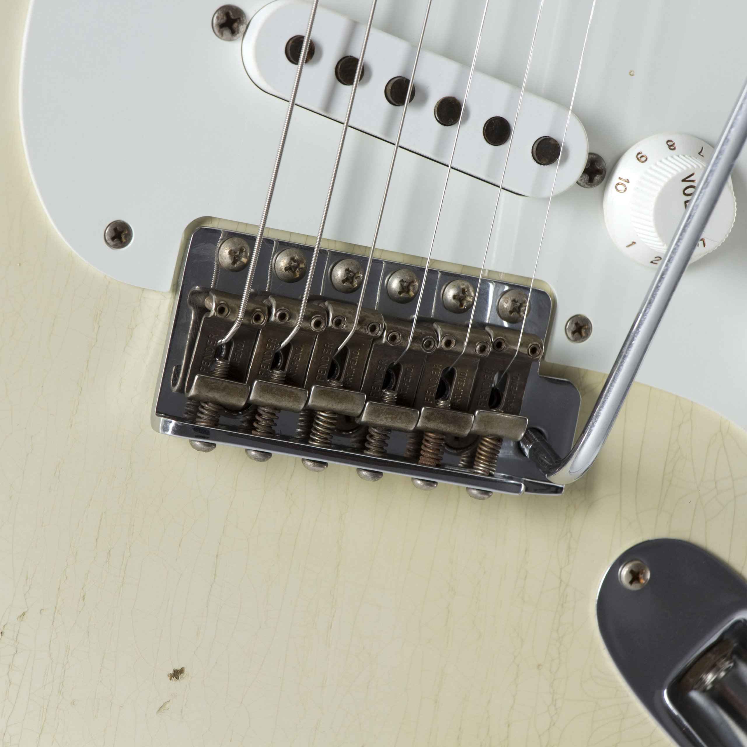 FENDER 1955 Relic Stratocaster Aged Olympic White #CZ524081 Tremolo