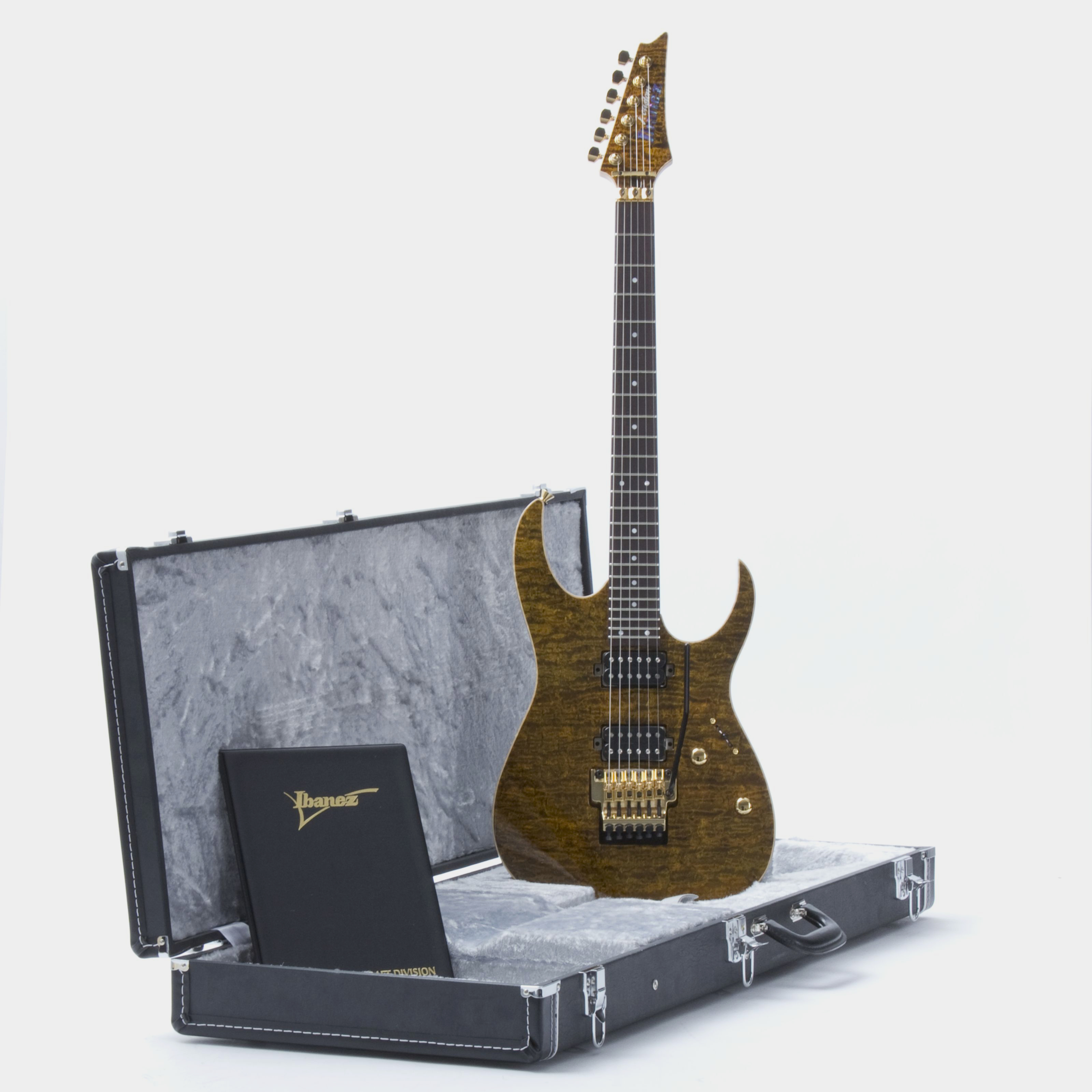 IBANEZ j.custom JCRG11R-GTE Golden Tiger Eye Koffer