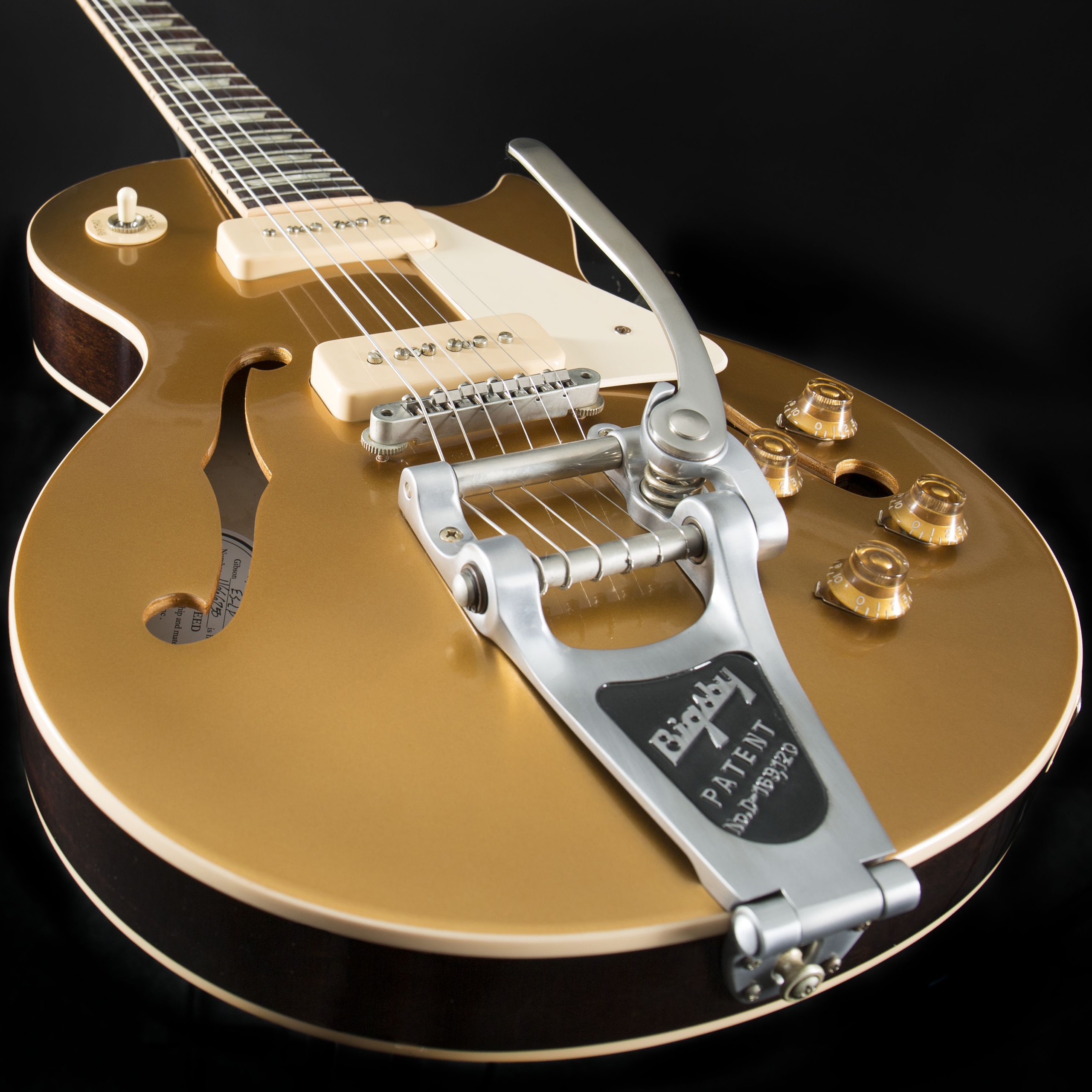 GIBSON ES-Les Paul Gold Top P-90 Bigsby #1666750 Detail1