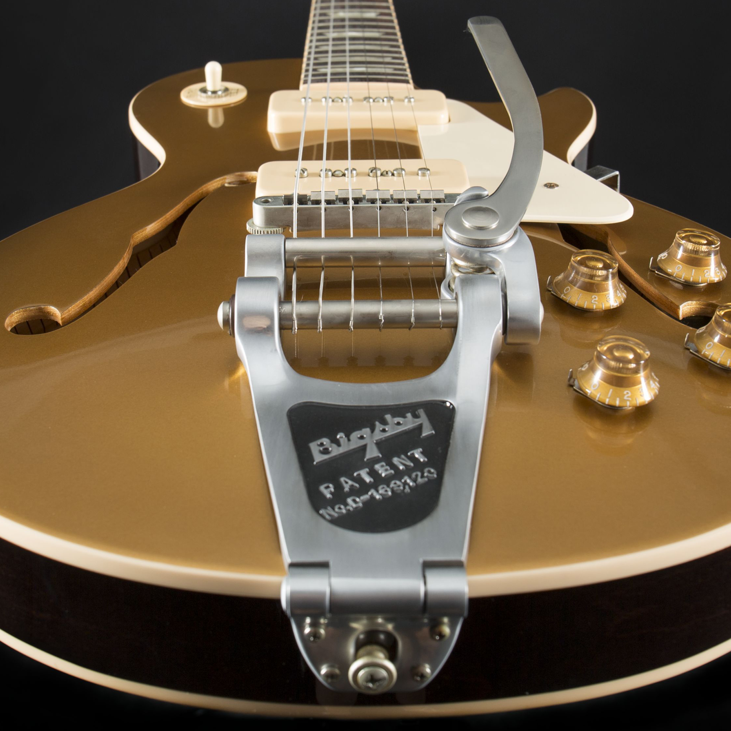 GIBSON ES-Les Paul Gold Top P-90 Bigsby #1666750 Detail2
