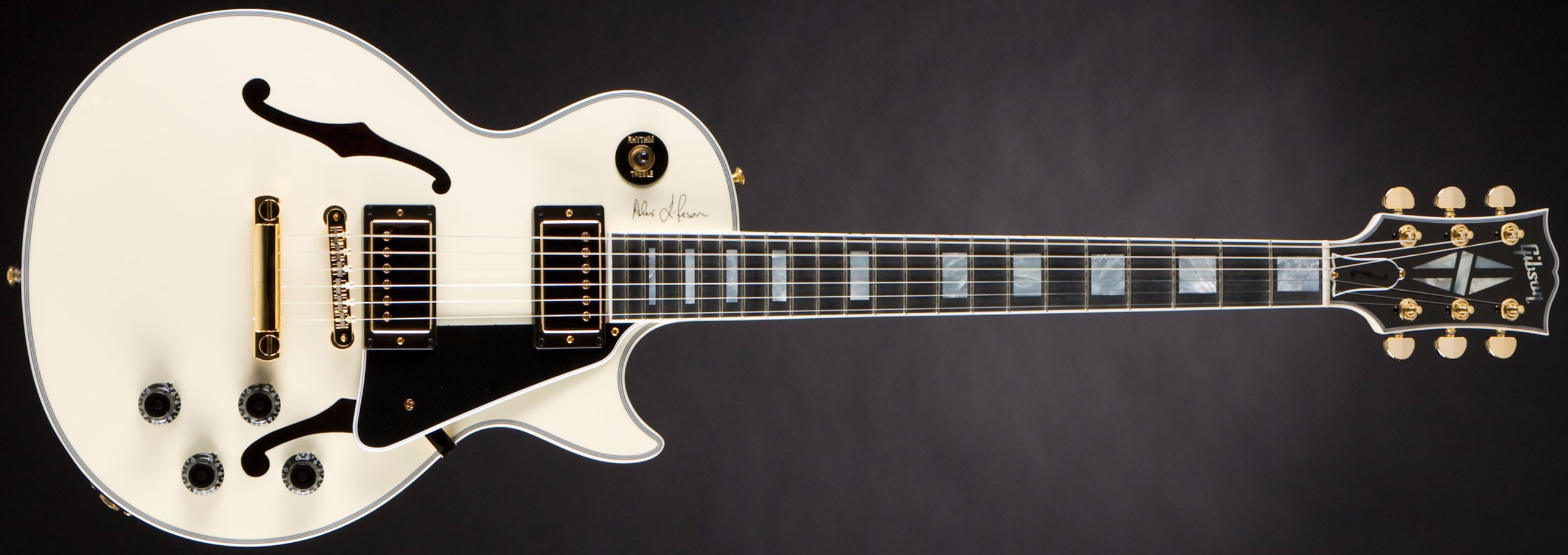 GIBSON Alex Lifeson ES-Les Paul Classic White #87 of 200