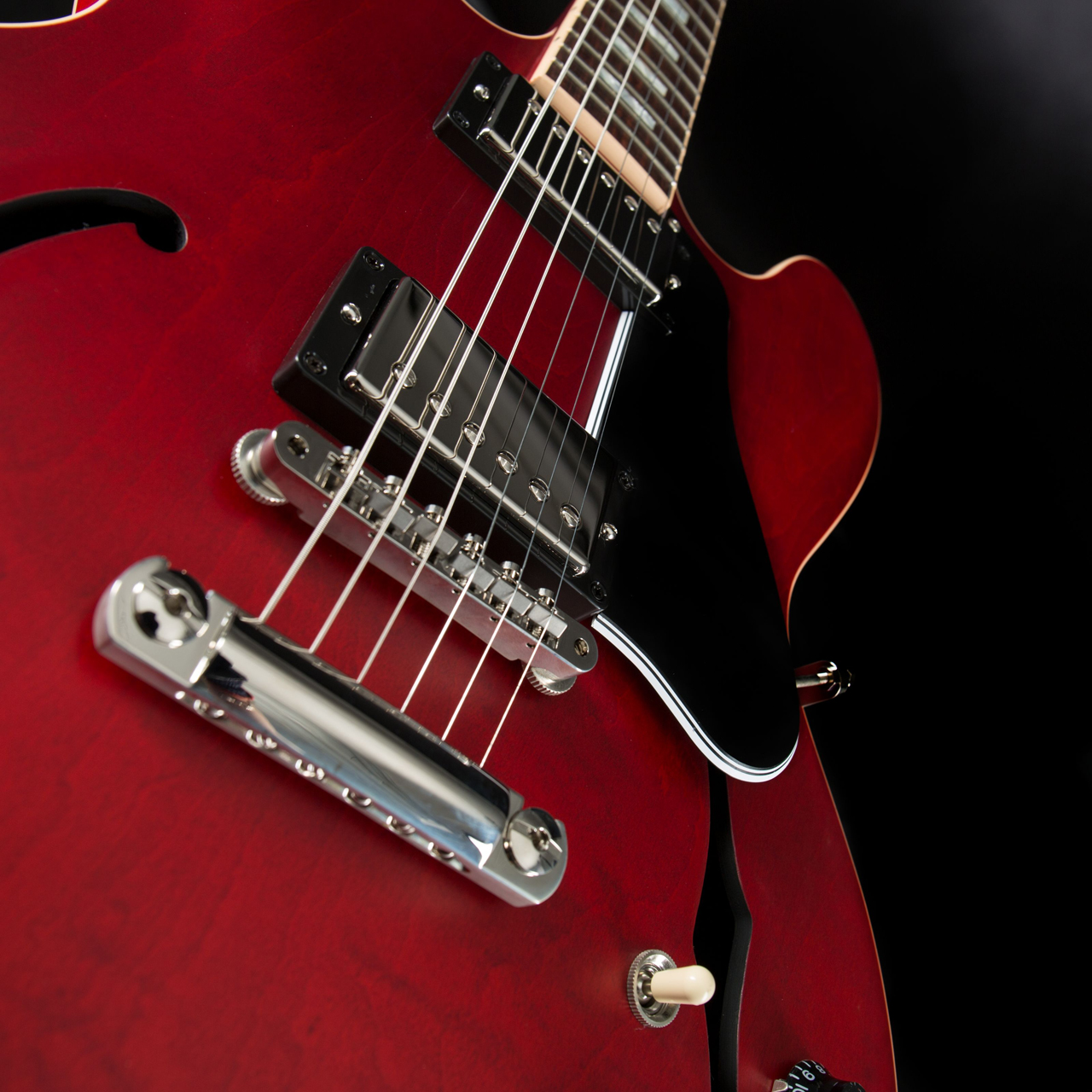 Gibson ES-335 Satin Faded Cherry Pickups
