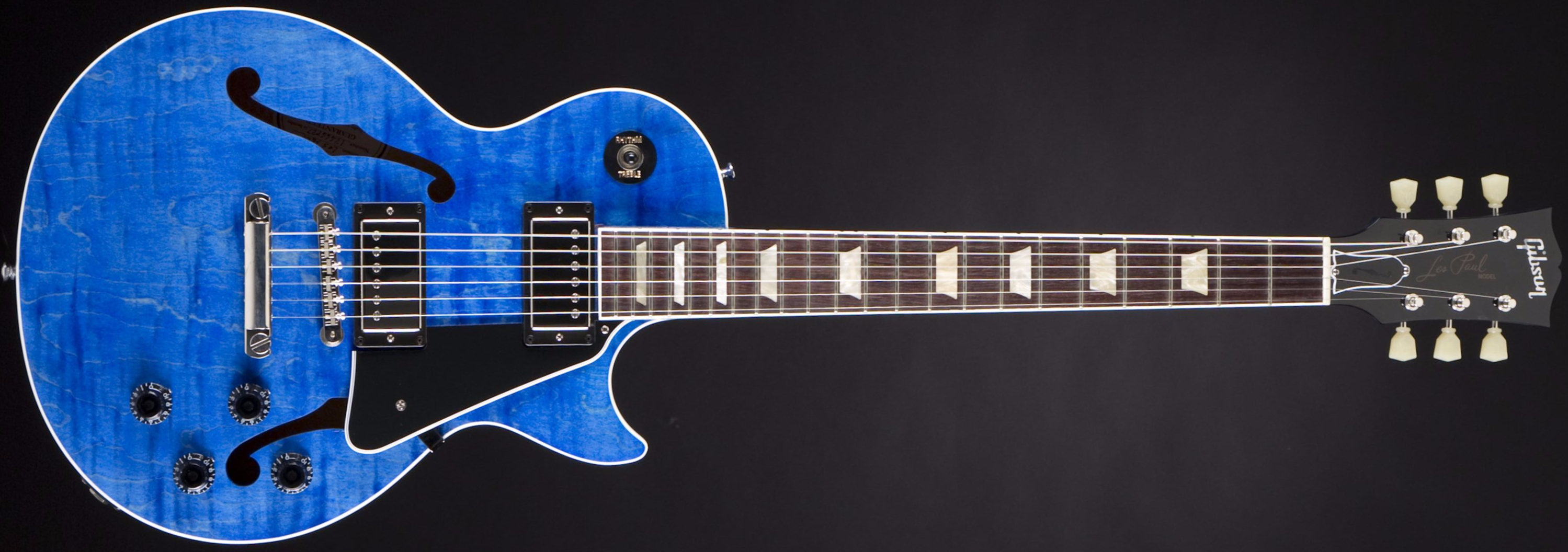 Gibson ES-Les Paul Blue Stain Front