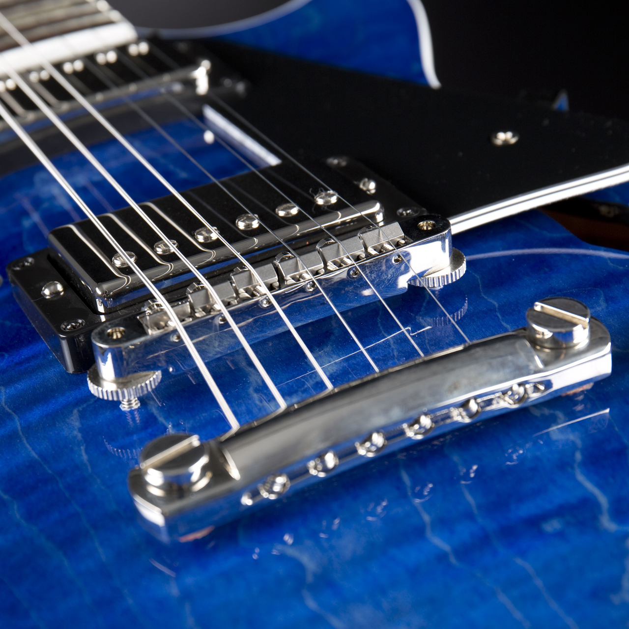 Gibson ES-Les Paul Blue Stain Pickups