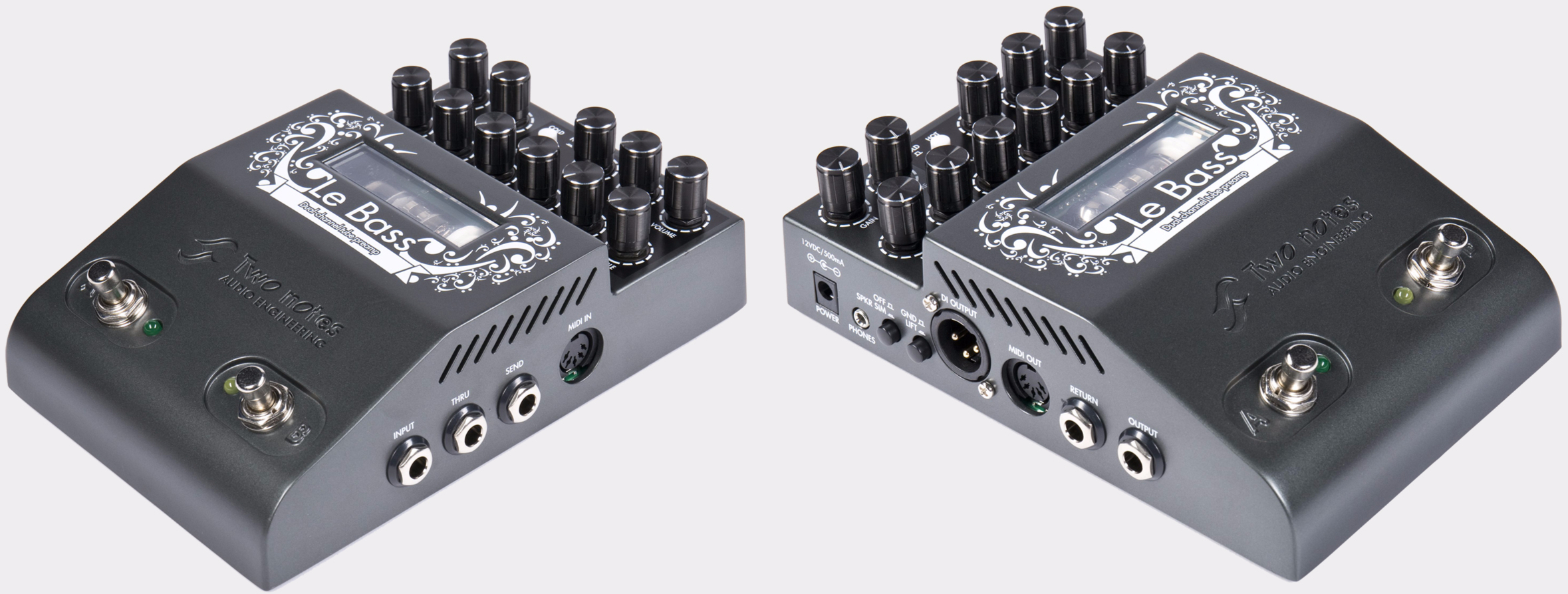 TWO NOTES Le Bass Preamp Anschlüsse