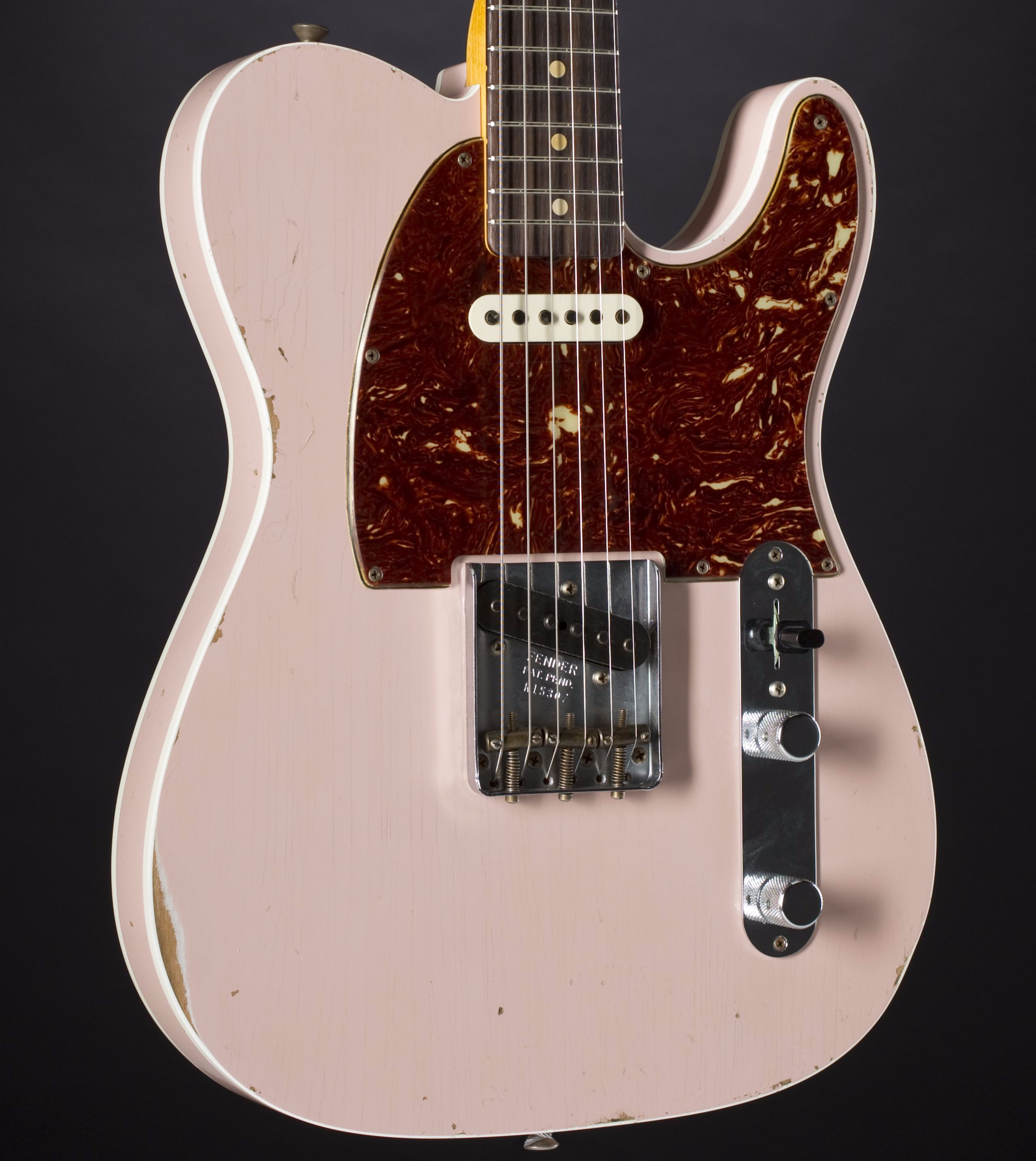 FENDER 1960 Telecaster Custom Relic Shell Pink #R15307 Body Detail