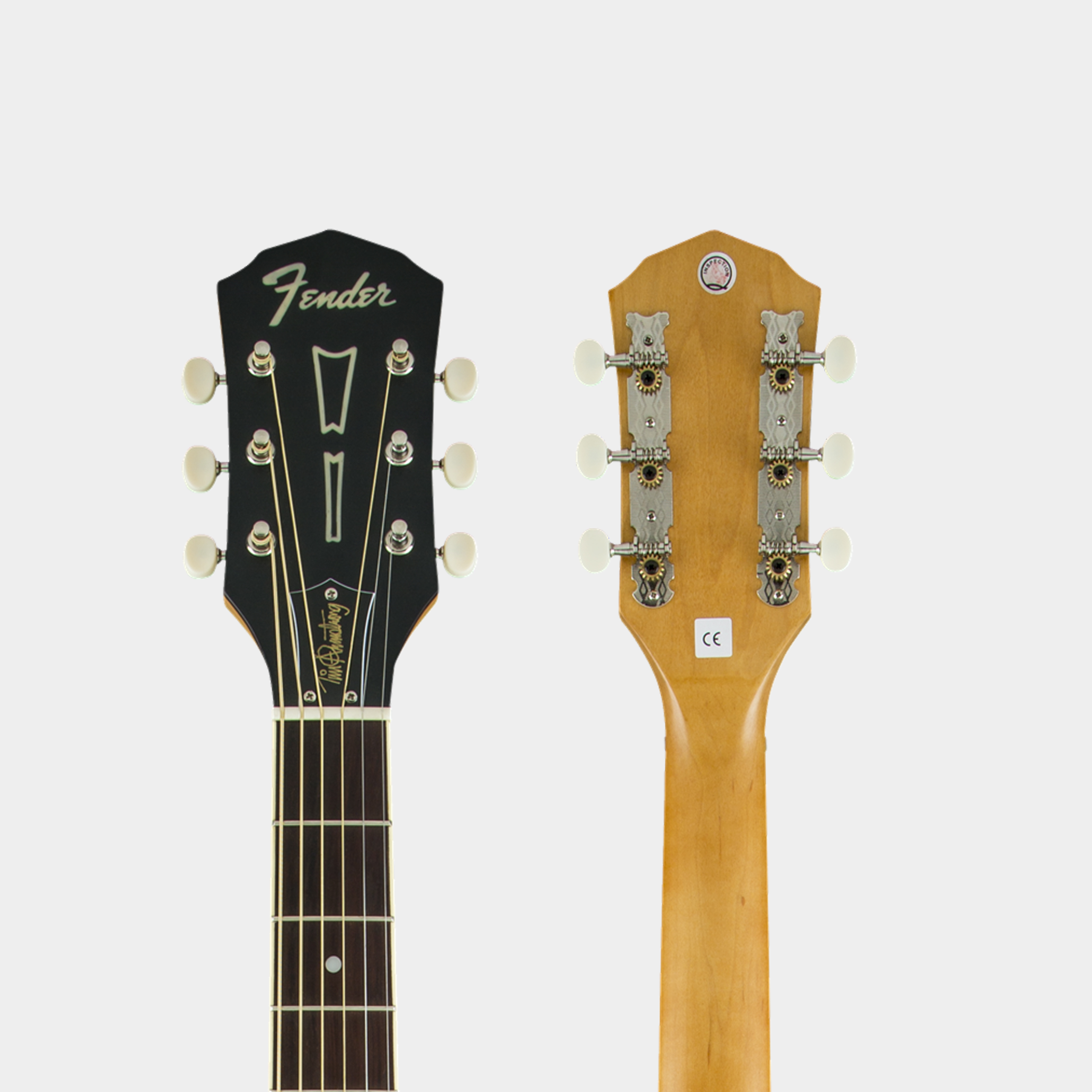 FENDER FSR Tim Armstrong Deluxe Satin Black Headstock Detail