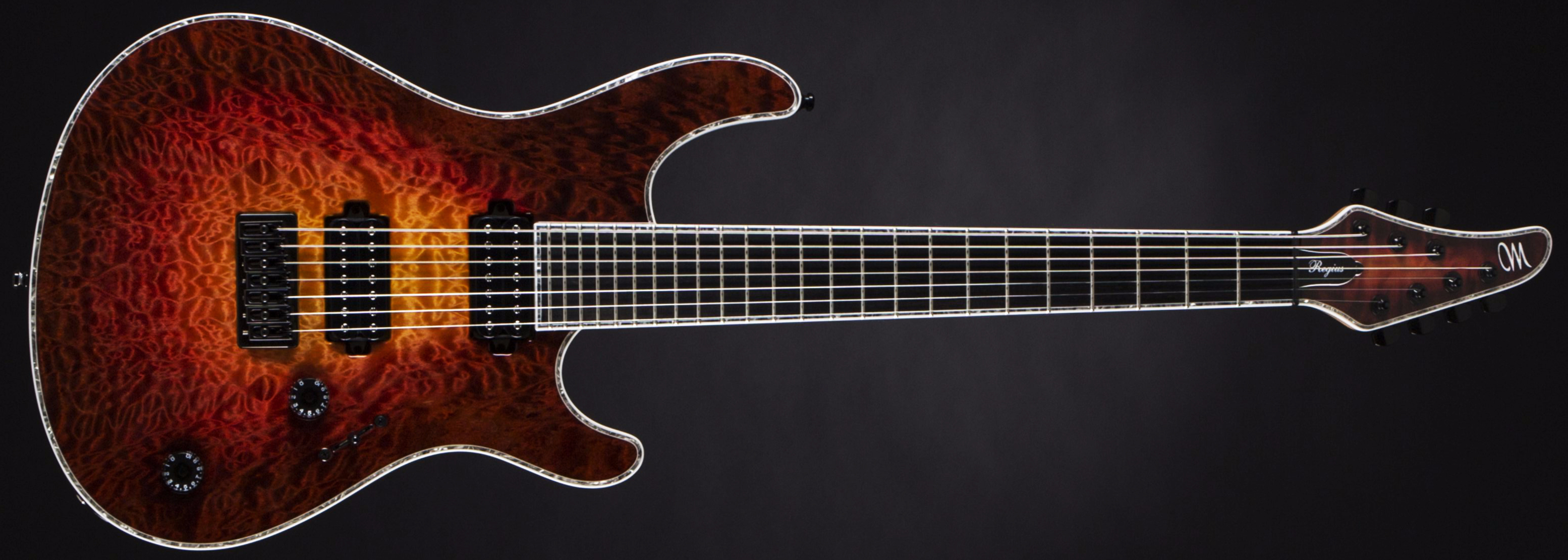 Mayones Regius 7 Quilted Maple Lava Burst Front