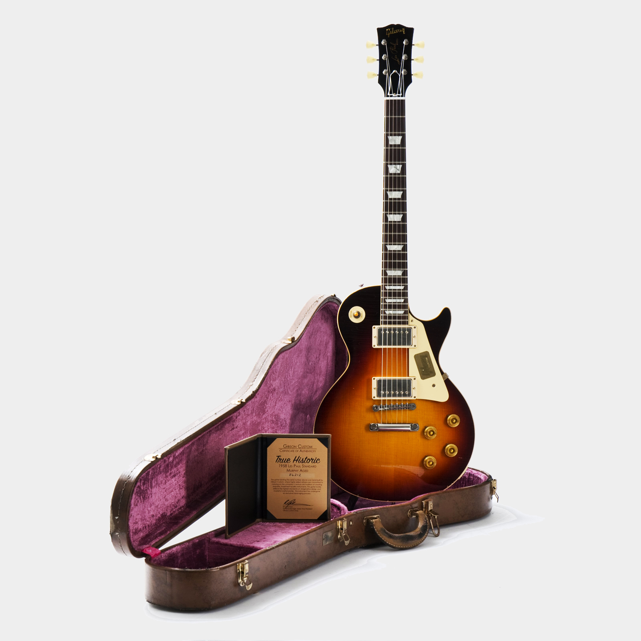 Gibson True Historic 1958 Les Paul Dark Burst Case