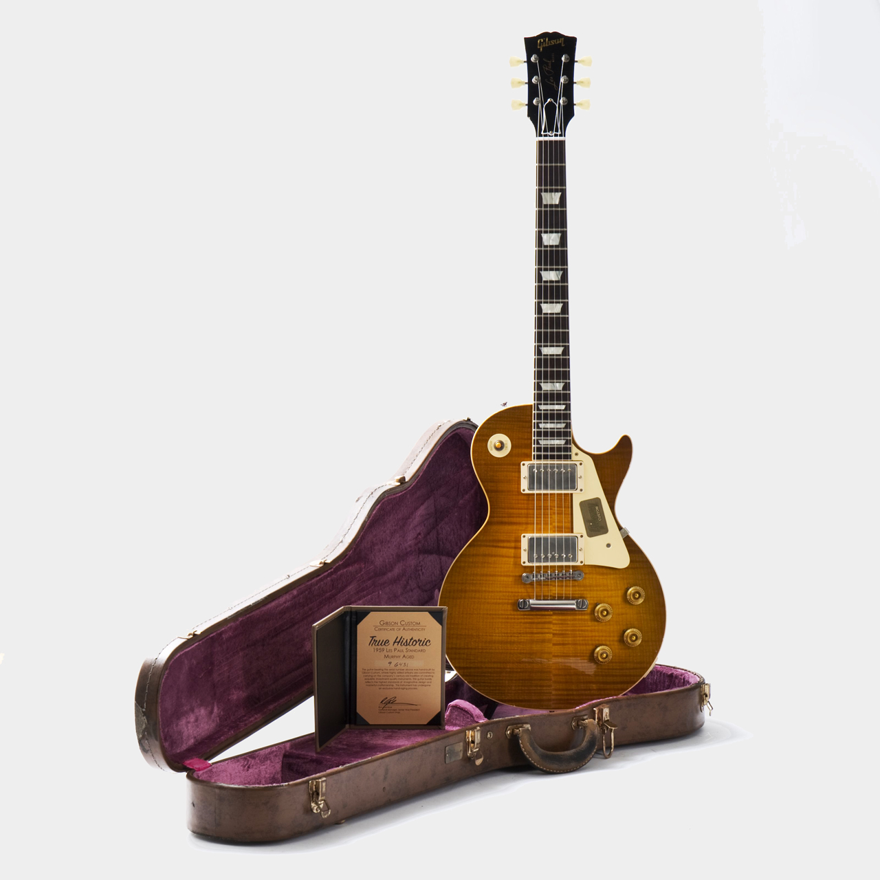 Gibson 1959 True Historic Les Paul Aged Lemon Burst Case