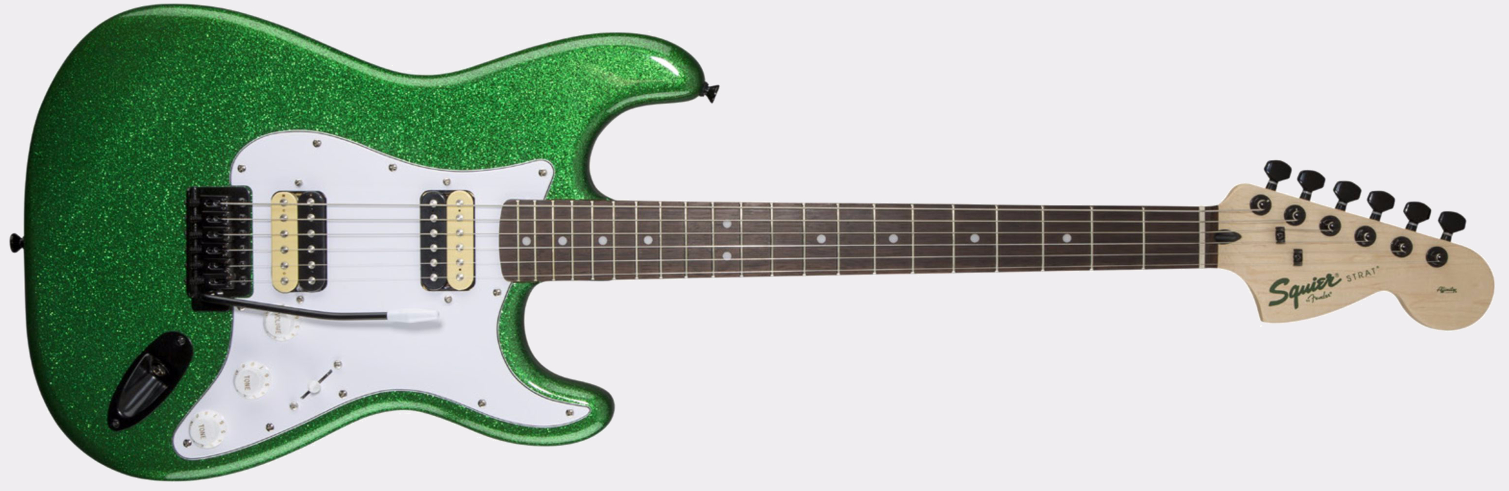 Squier Affinity Strat HH FSR Candy Green Sparkle Front