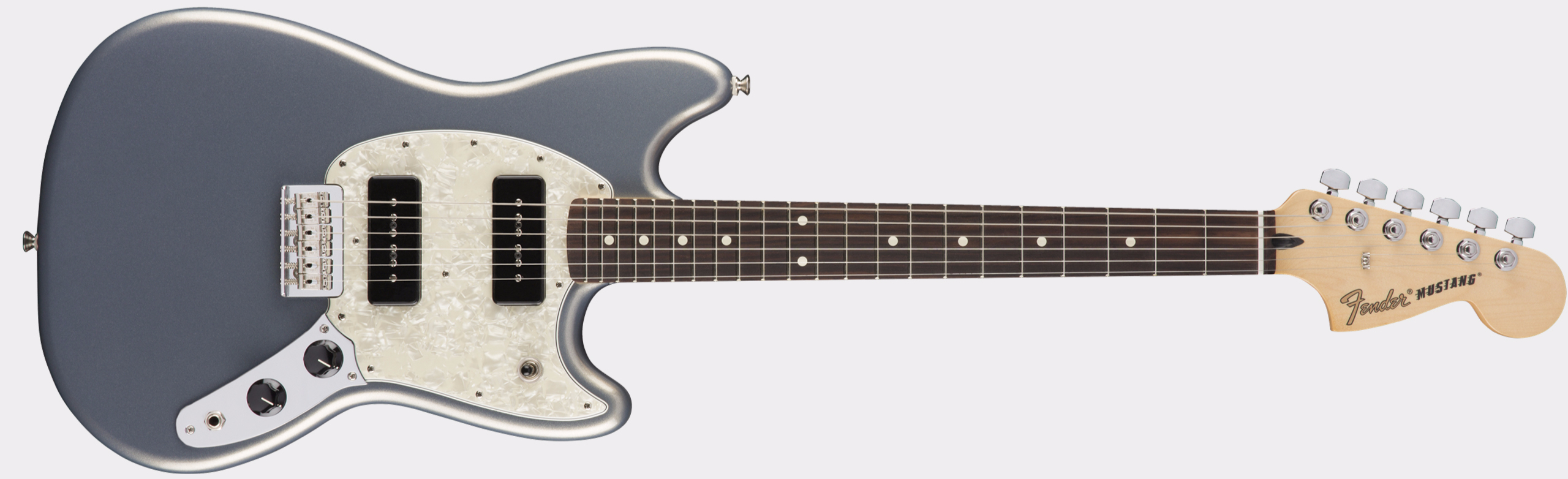 FENDER Mustang P90 RW Silver