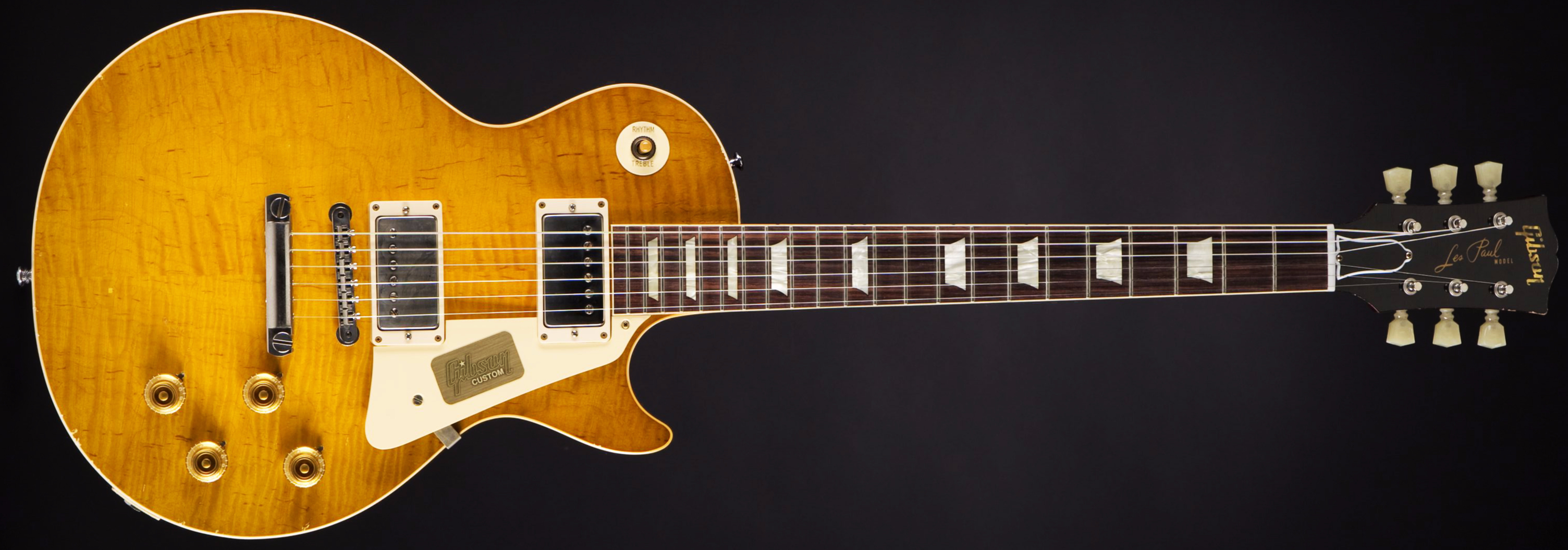 Gibson True Historic 1960 Les Paul Aged Vintage Lemon Burst Front