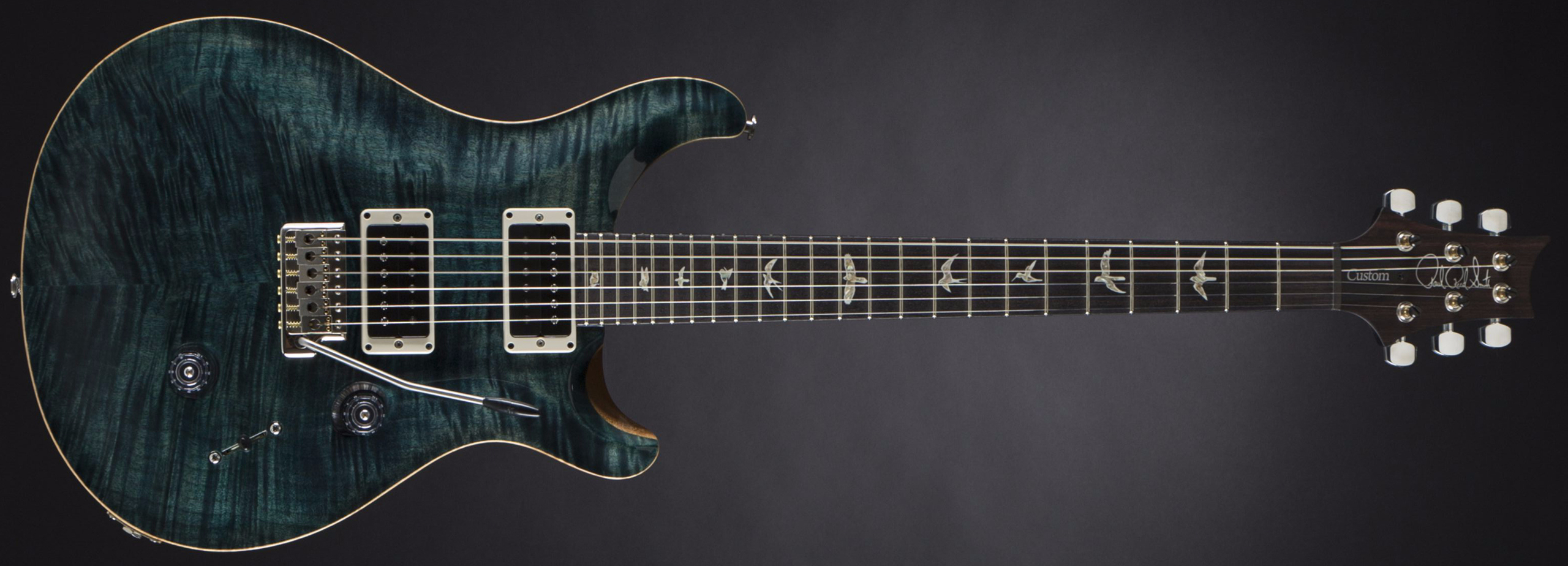 PRS Custom 24 10-Top Slate Blue #16 229683