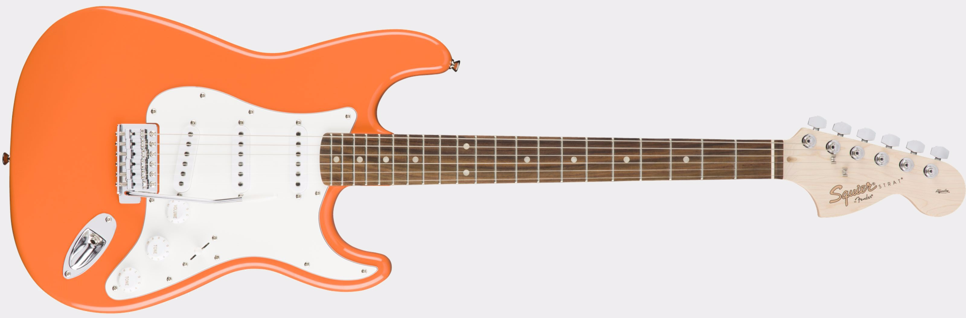 Squier Affinity Strat RW Competition Orange Front