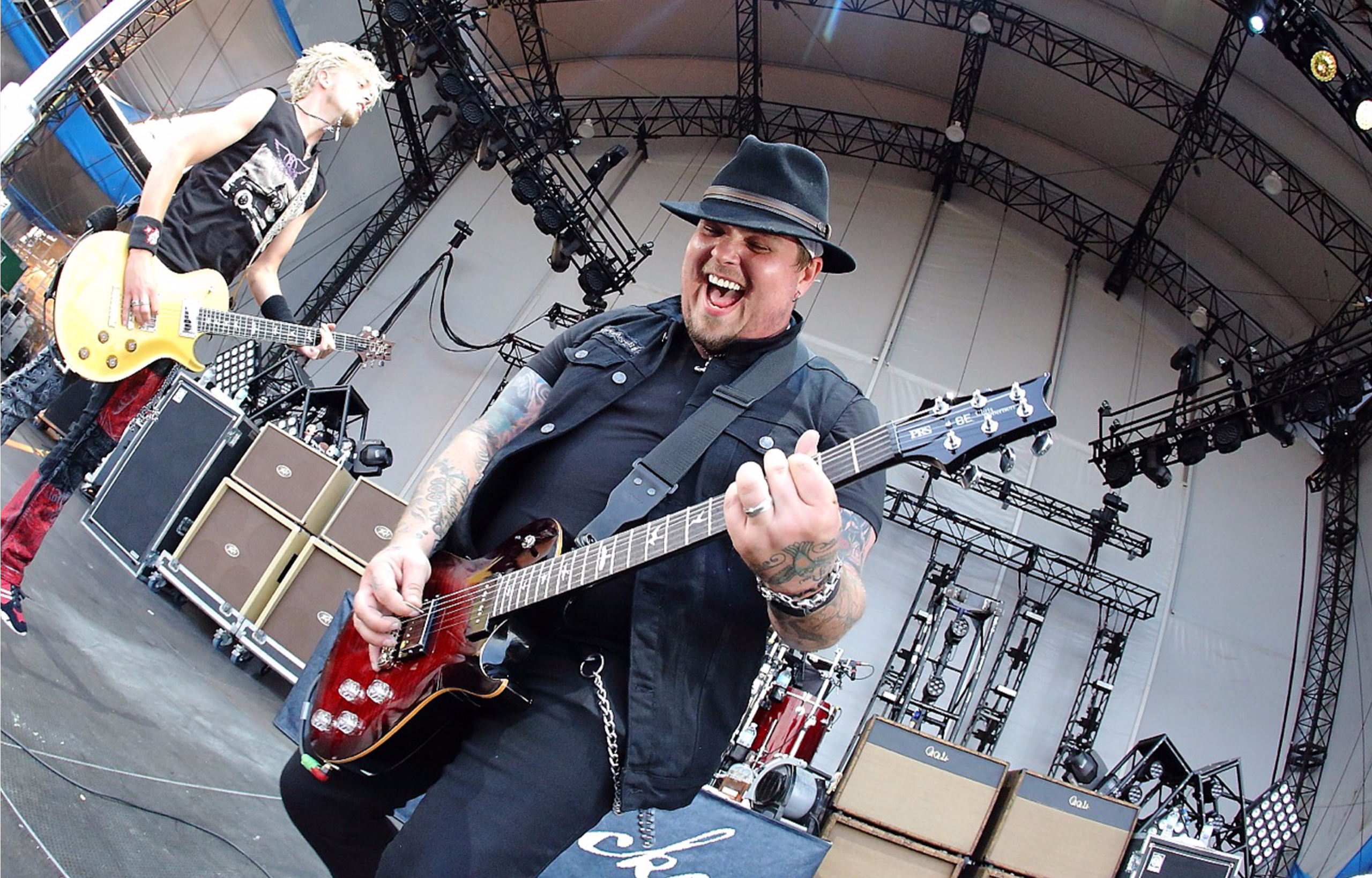 PRS SE Chris Robertson Black Stone Cherry Burst OnStage
