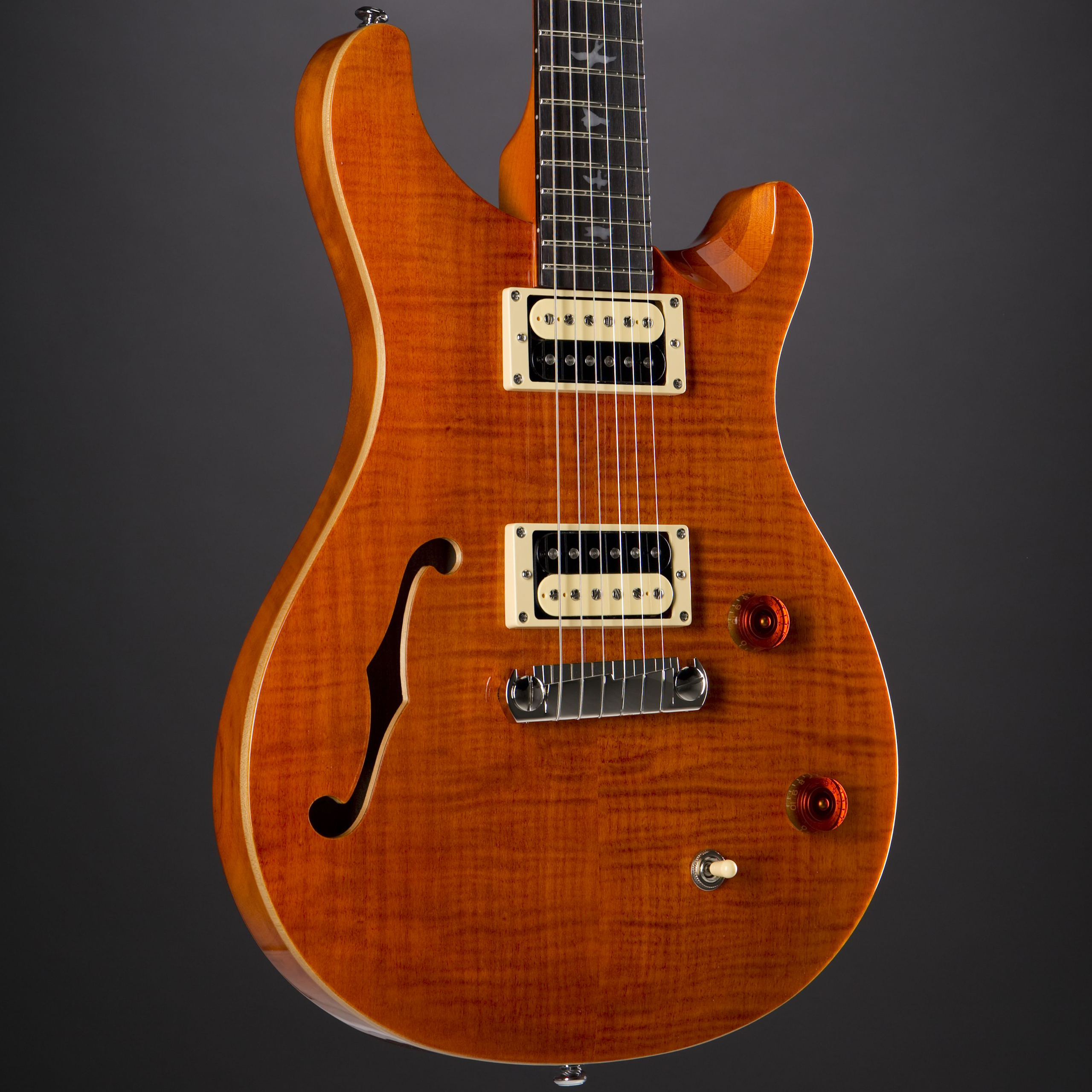 PRS SE Custom 22 Semi-Hollow Orange Korpus