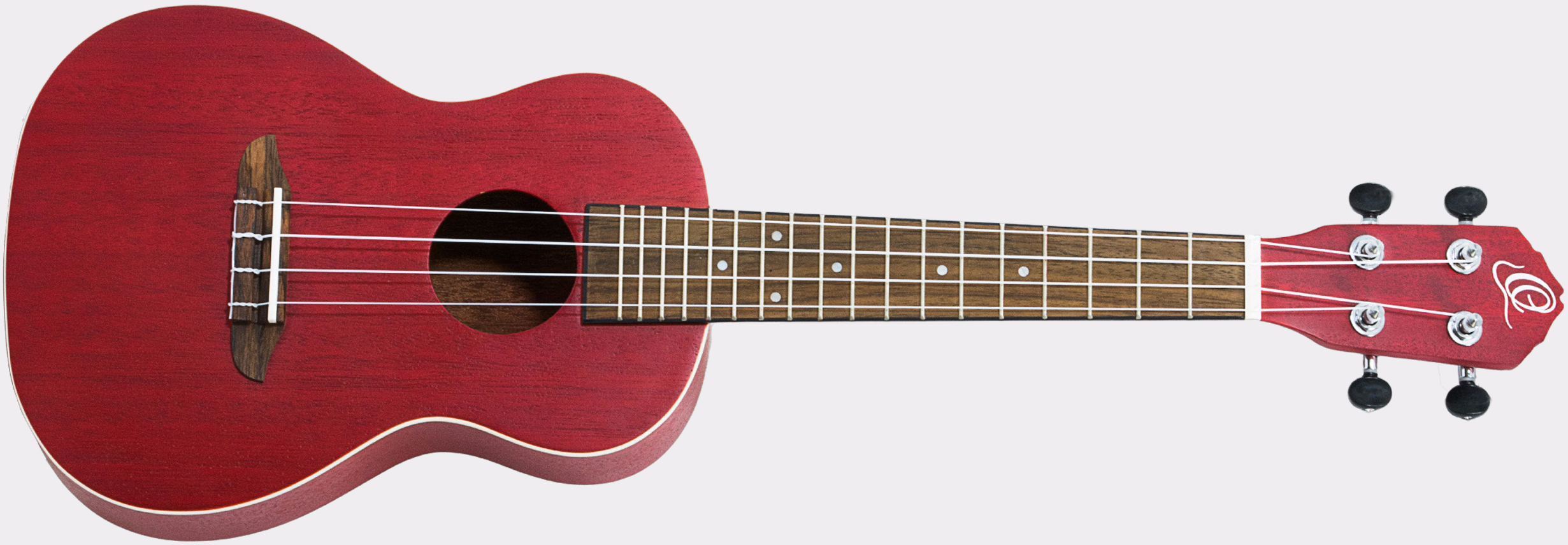 Ortega Earth Ukulele See Thru Red Front