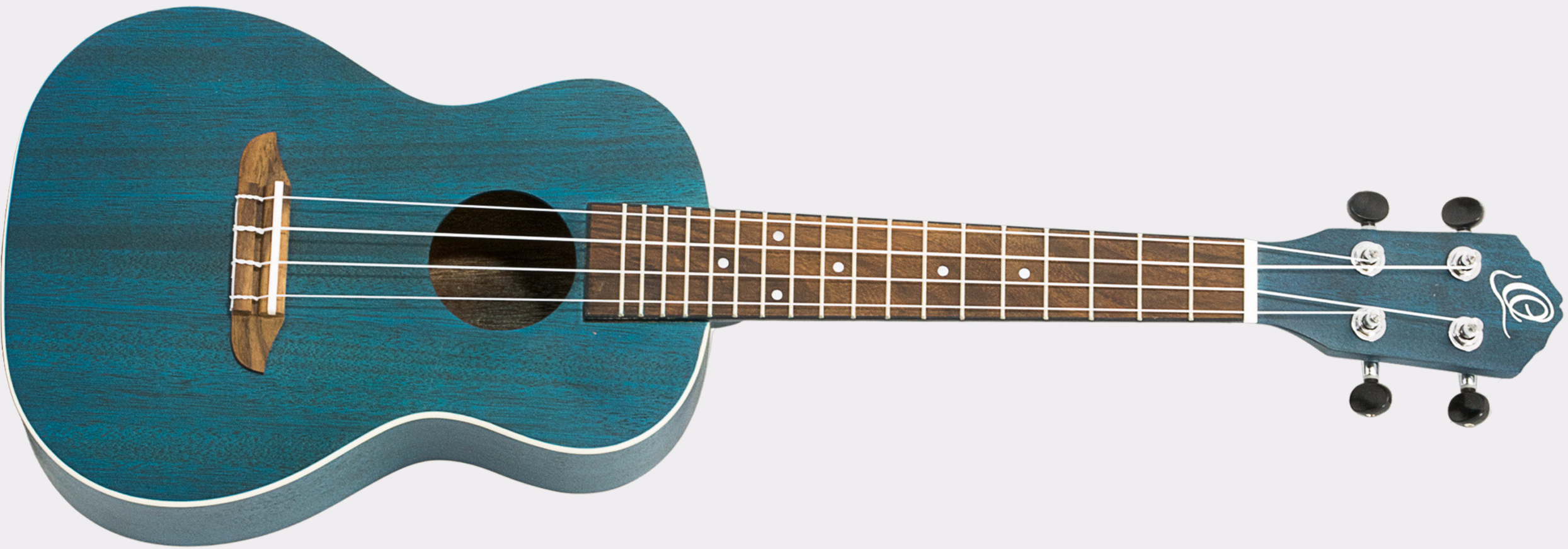Ortega Earth Ukulele See Thru Blue Front