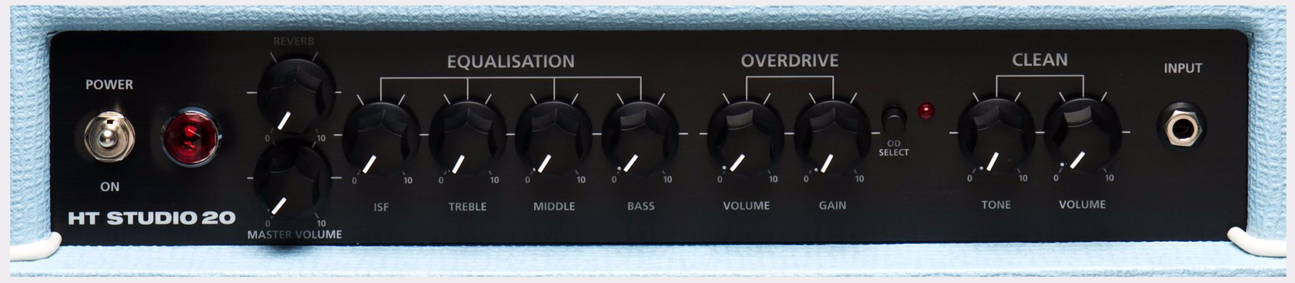 BLACKSTAR HT Studio 20H Head Blue Limited Edition Front Panel