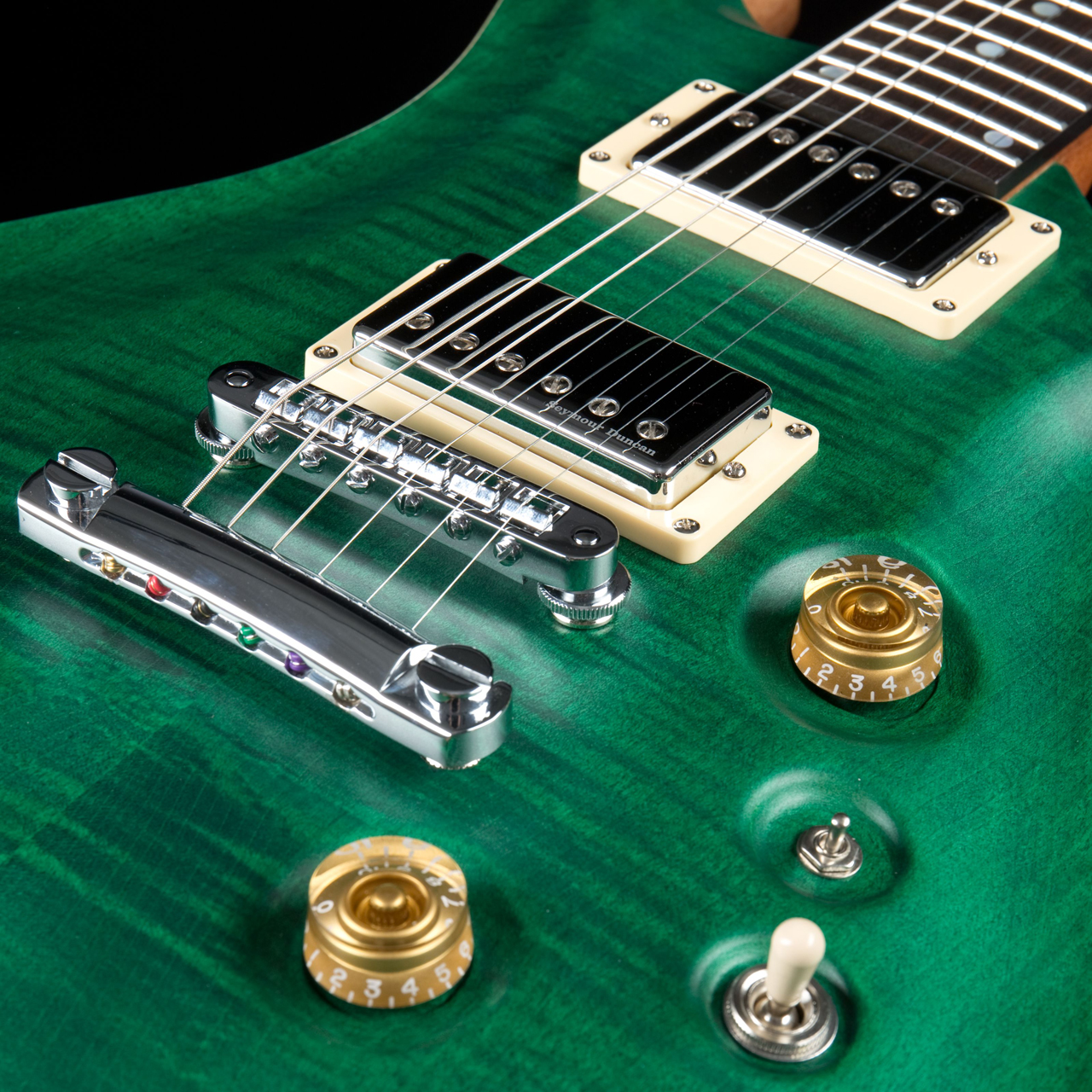 Fame Forum IV Classic Emerald Green Satin Pickups