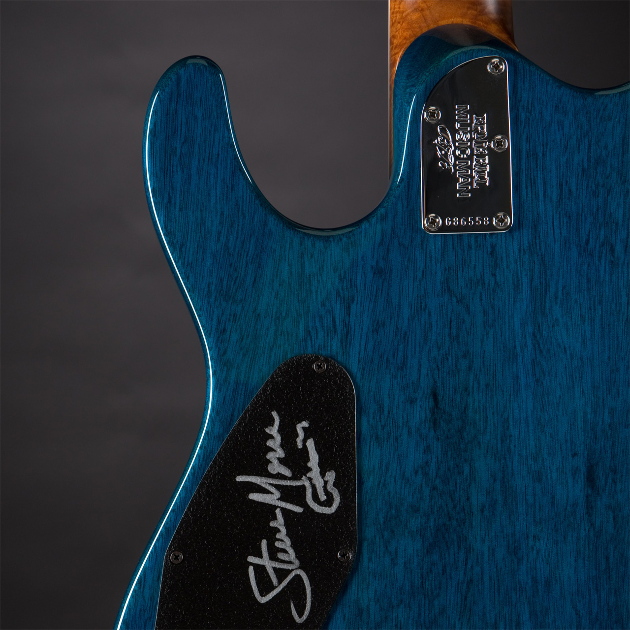 MUSIC MAN Steve Morse BFR Tahitian Blue Limited Edition Rückseite