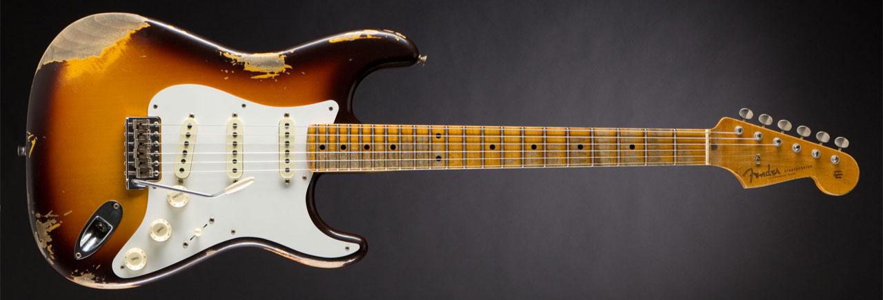 Fender 2018 Heavy Relic 1958 Stratocaster Chocolate 3-Color Sunburst ...
