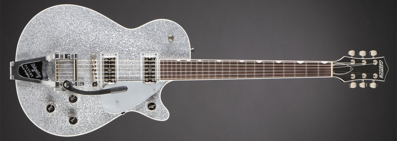 GRETSCH G6129T Players Edition Jet FT Bigsby Silver Sparkle