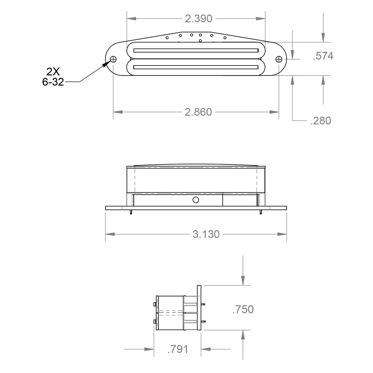 Seymour Duncan Hot Rails Tele Set Telecaster Wiring Diagram Dimension Neck