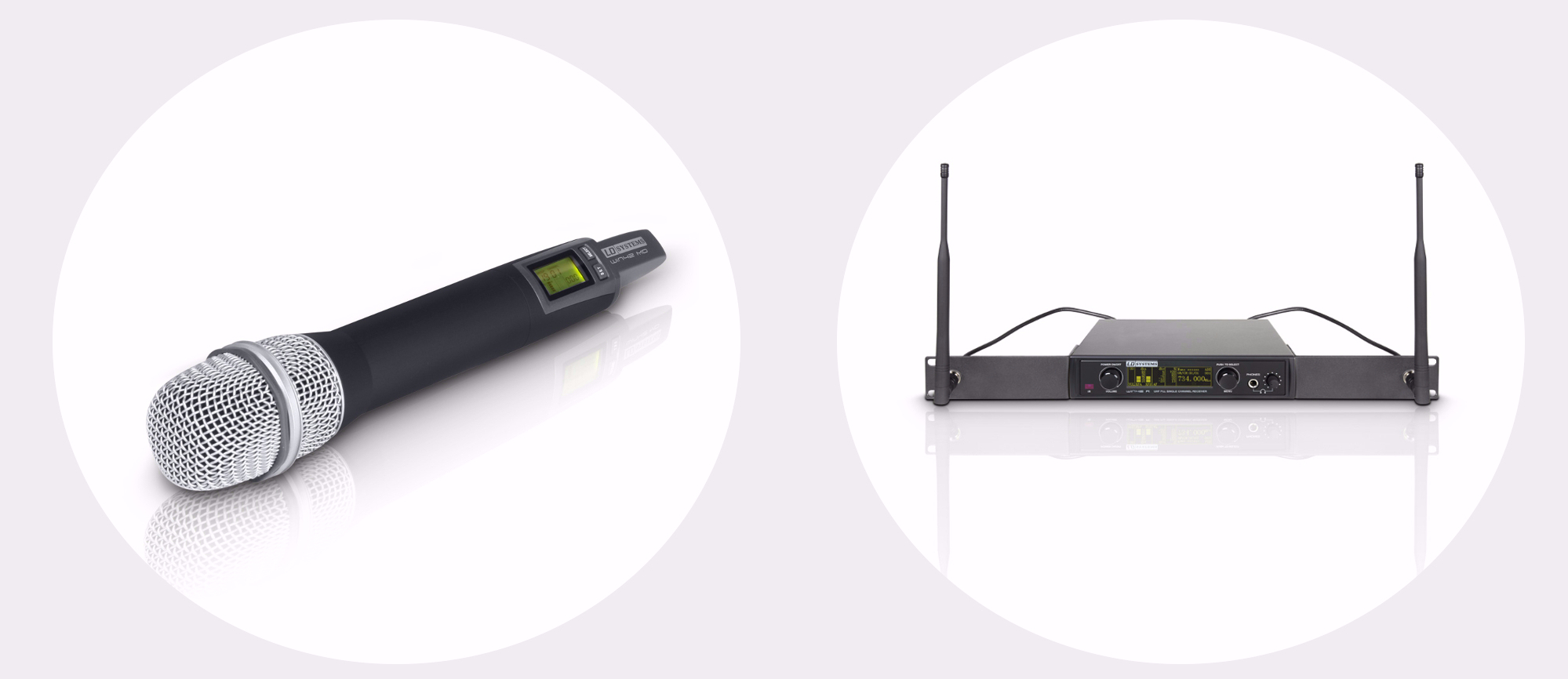 Handheld transmitter and receiver with rackkit
