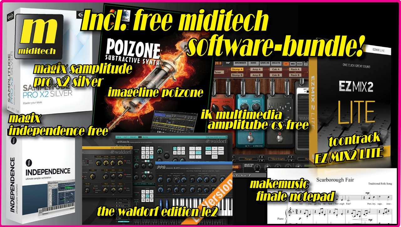 Miditech free Software Bundle V2!