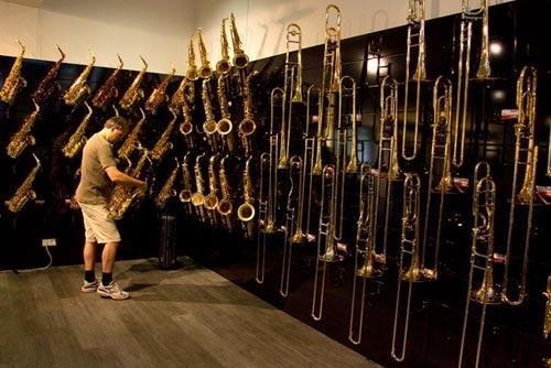 st lzel marschgabel trompete f r mundrohr vernickelt. Black Bedroom Furniture Sets. Home Design Ideas