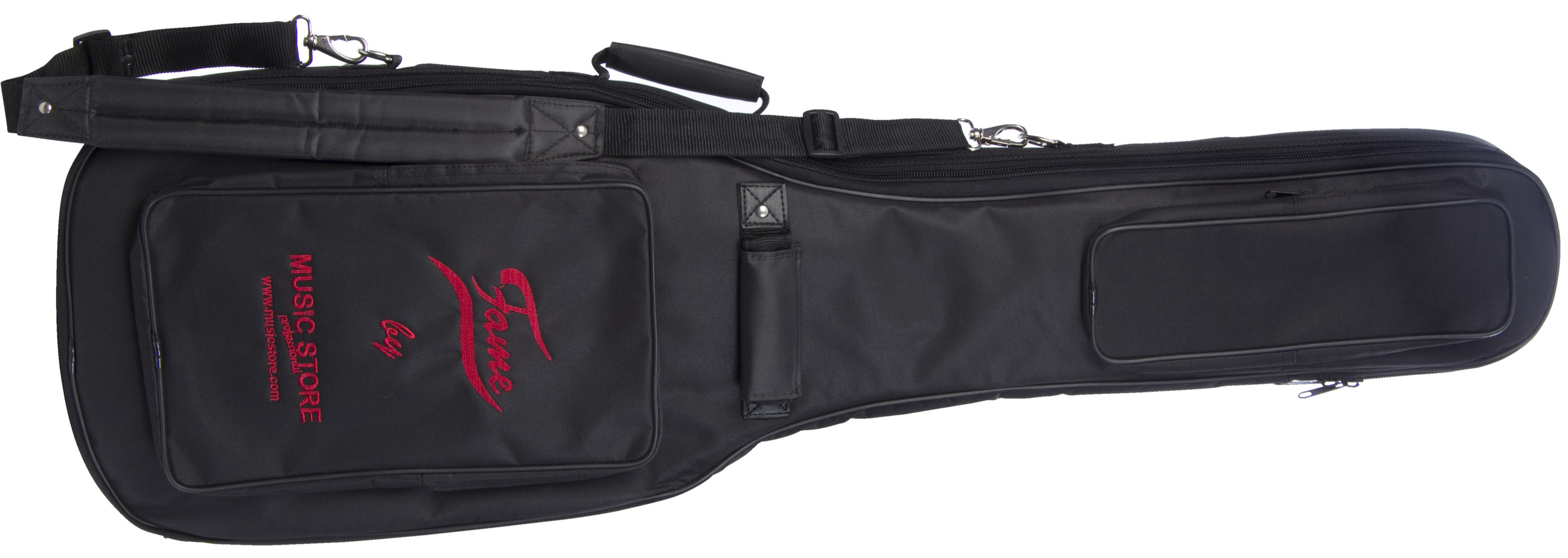 "FAME ""Super Deluxe"" Gigbag E-Bass Black with Red Logo"