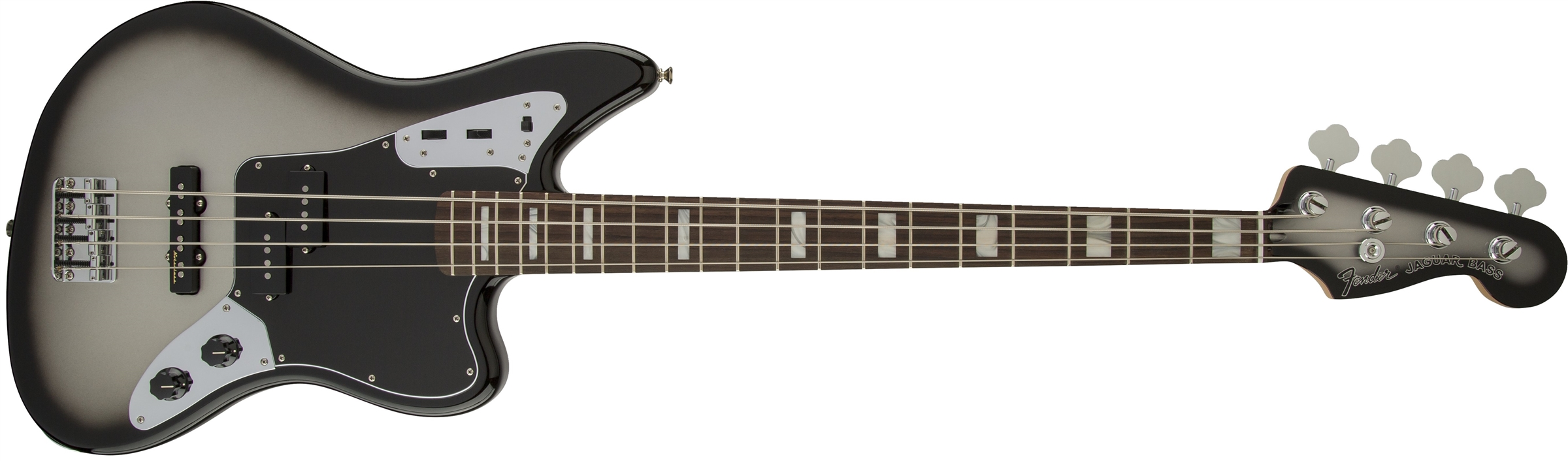 Fender AS Troy Sanders Jaguar RW SIB Silverburst