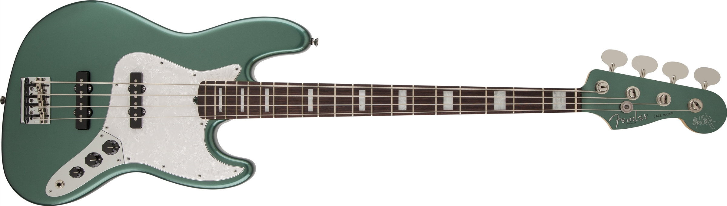 Fender AS Adam Clayton J-Bass RW SGM Sherwood Green Metallic MH